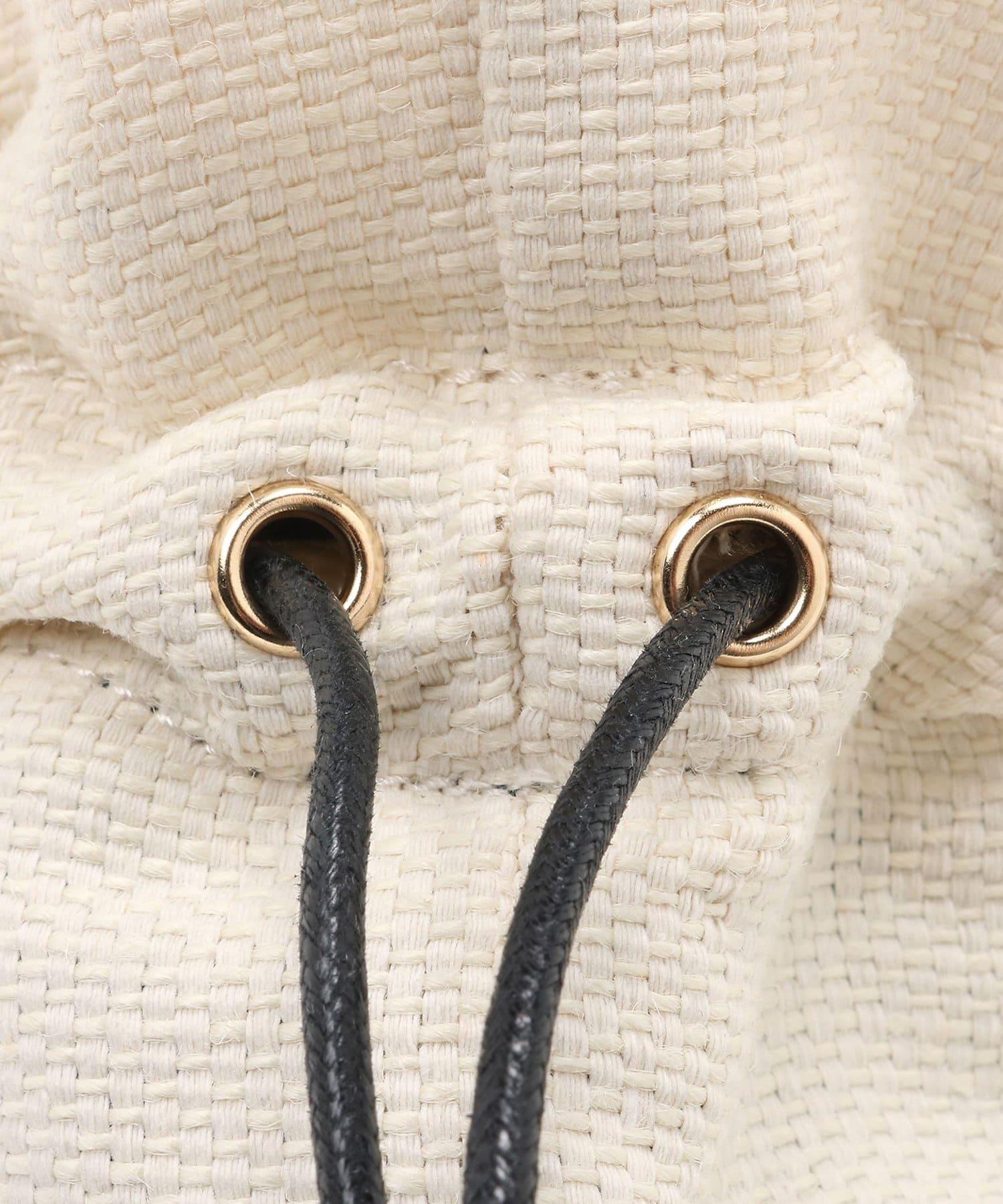 La boutique BonBon(ラブティックボンボン) 【MARCHER(マルシェ)】籐×レザーコンビ横型バッグ
