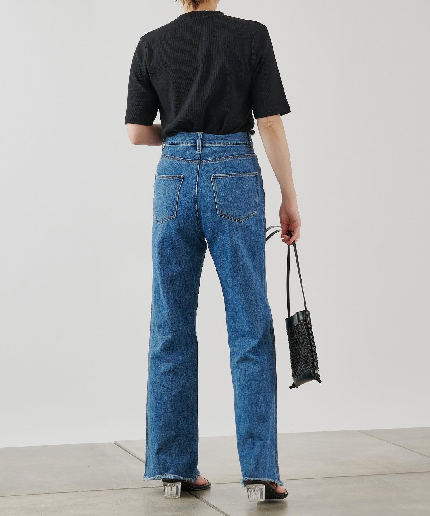 COLONY 2139(コロニー トゥーワンスリーナイン) ギザコットンリブ5分袖Tシャツ
