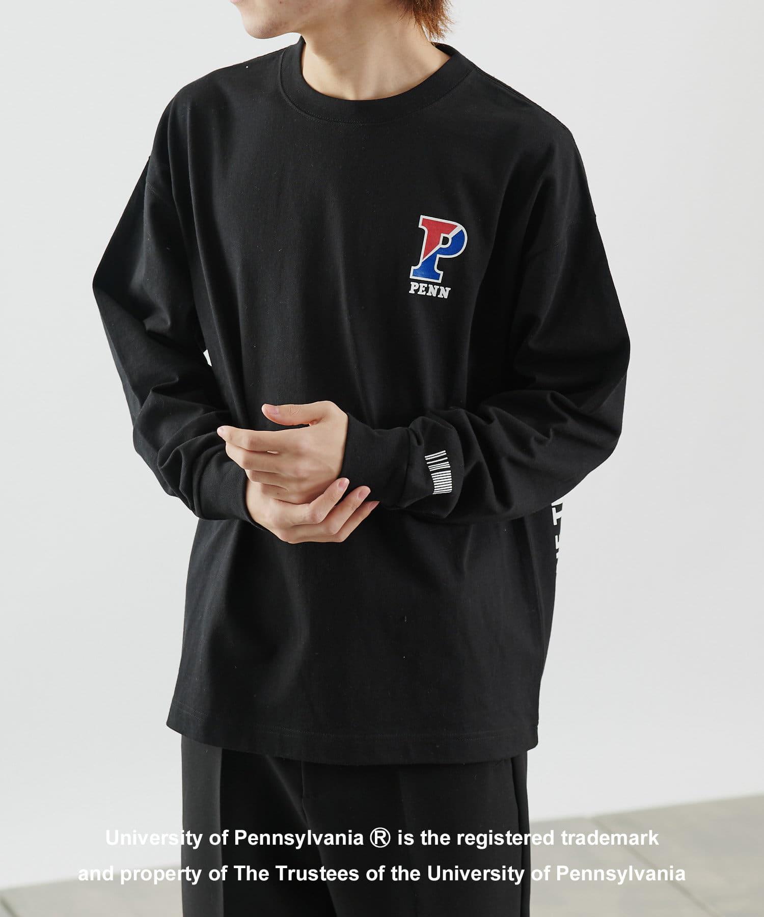 COLONY 2139(コロニー トゥーワンスリーナイン) COLONY 2139(コロニー トゥーワンスリーナイン) カレッジUSAコットン天竺長袖Tシャツ/ロンT (ユニセックス可) ブラックその他2