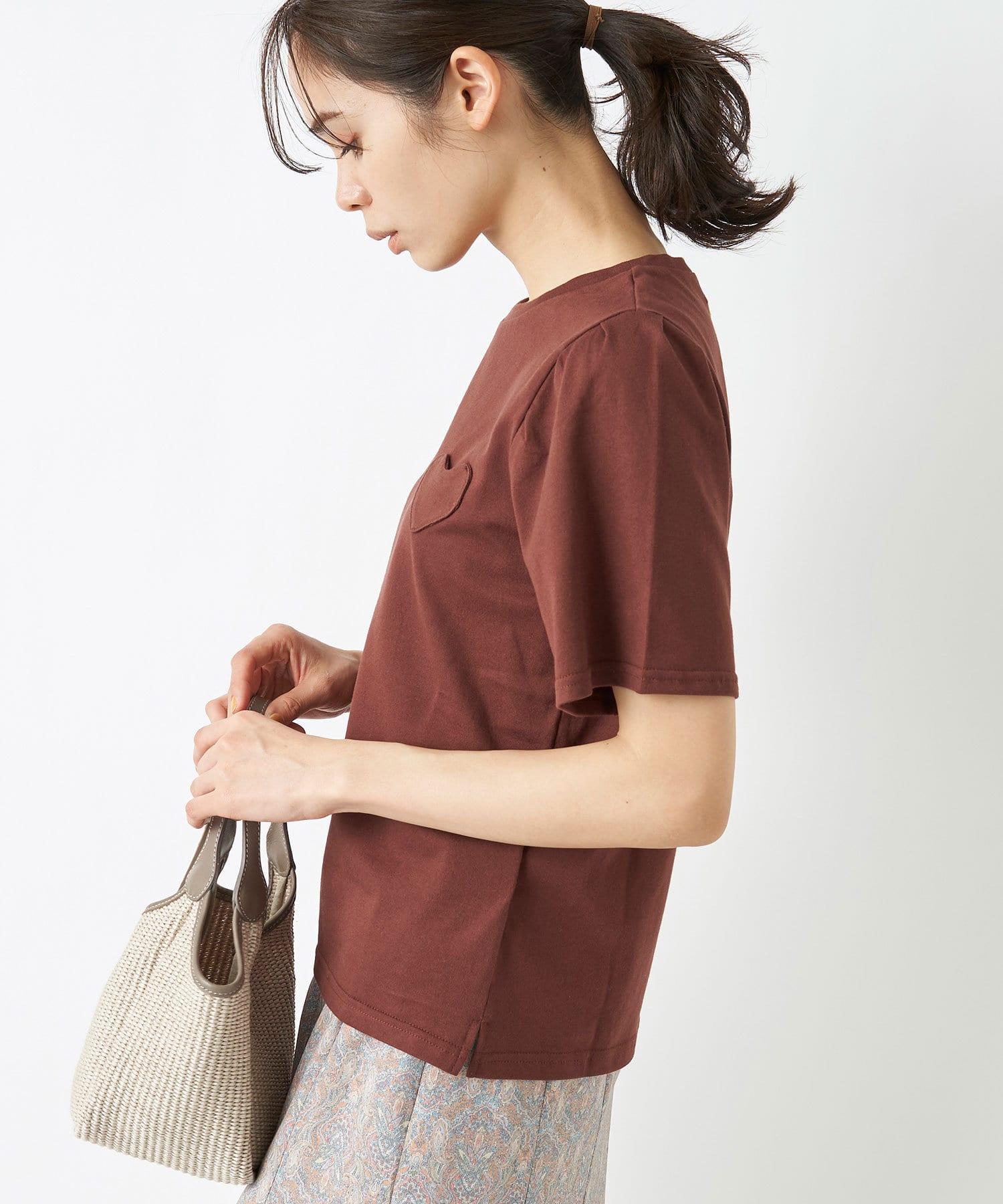 La boutique BonBon(ラブティックボンボン) 【MUVEIL(ミュベール)】ハートパッチTシャツ