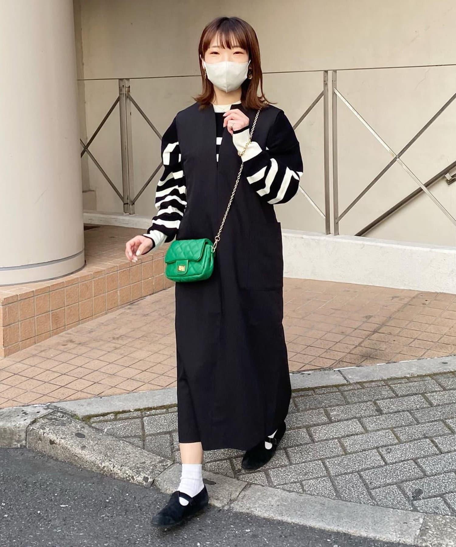 un dix cors(アンディコール) 動画付き【上品な着こなしが決まる】スリットネックジャンスカ
