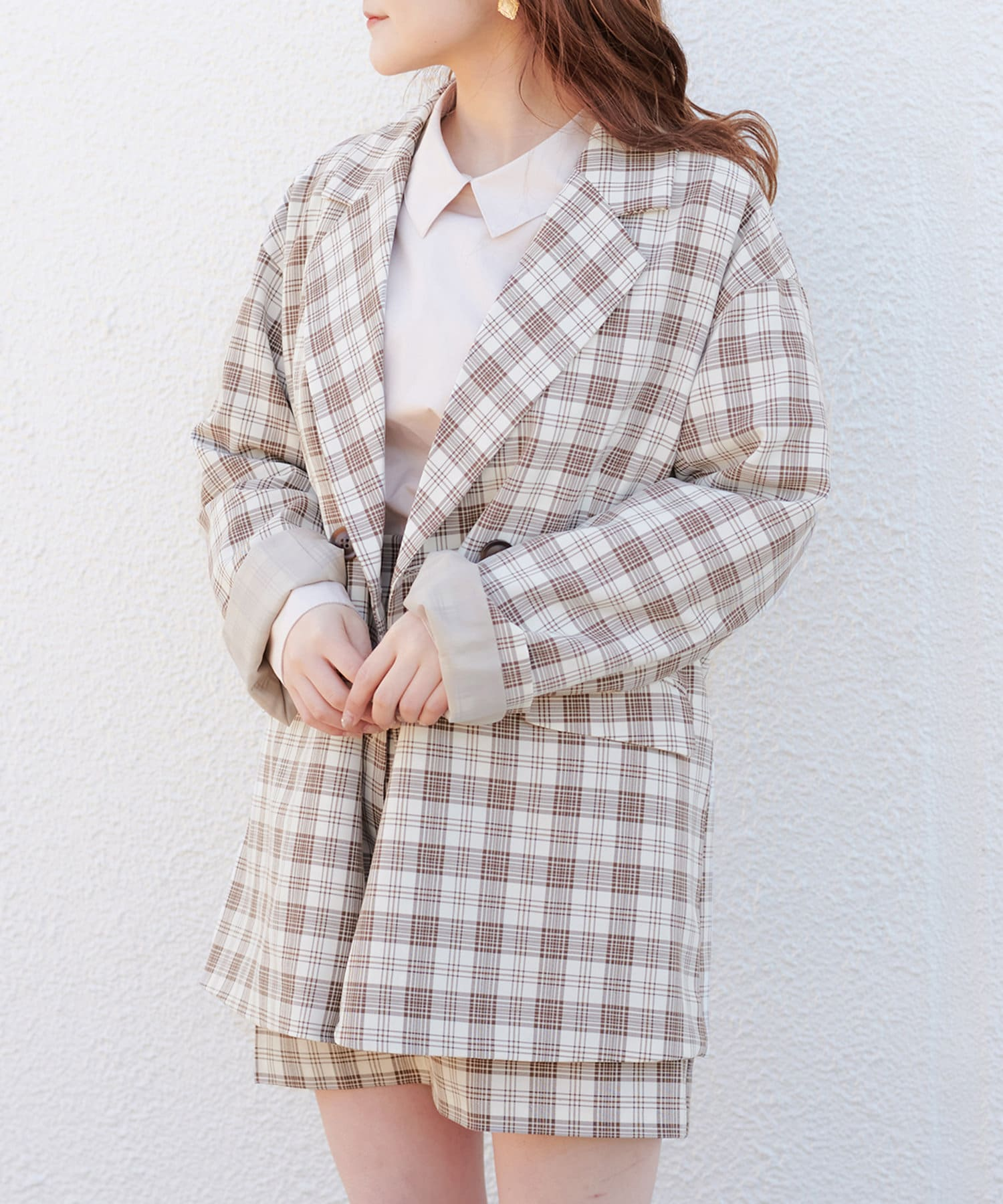 one after another NICE CLAUP(ワンアフターアナザー ナイスクラップ) 【モール限定】ジャケット×ミニスカートセットアップ
