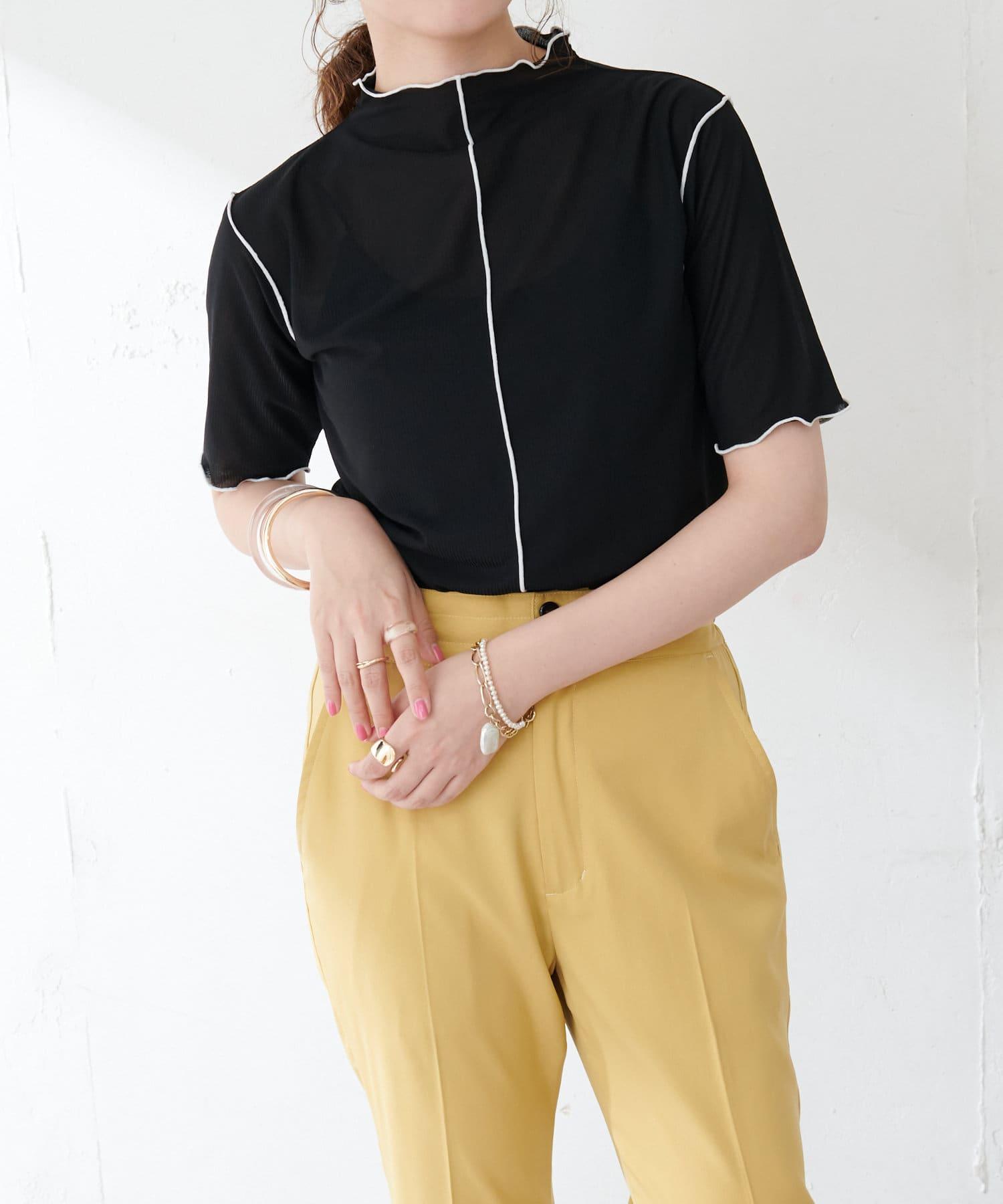 Discoat(ディスコート) 【WEB限定】配色メロートップス≪新色追加!≫