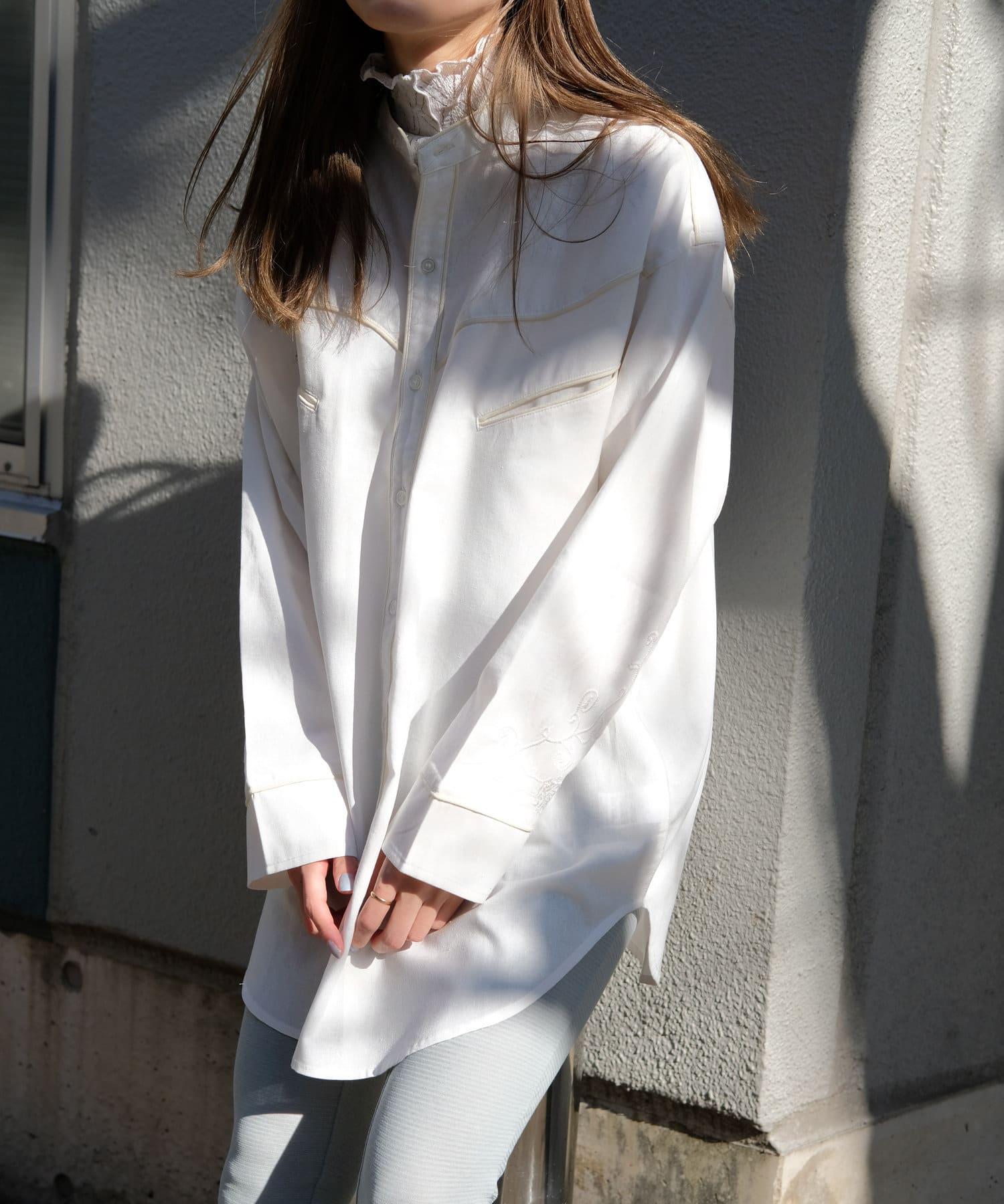 Kastane(カスタネ) 【Thank Mat'l.】リサイクルヤーンウエスタンシャツ