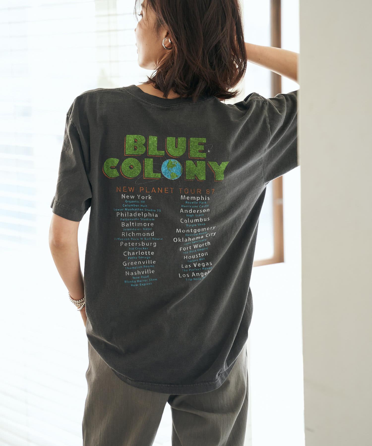 RIVE DROITE(リヴドロワ) レディース 【GOOD ROCK SPEED】BLUE COLONY Tシャツ ブラック
