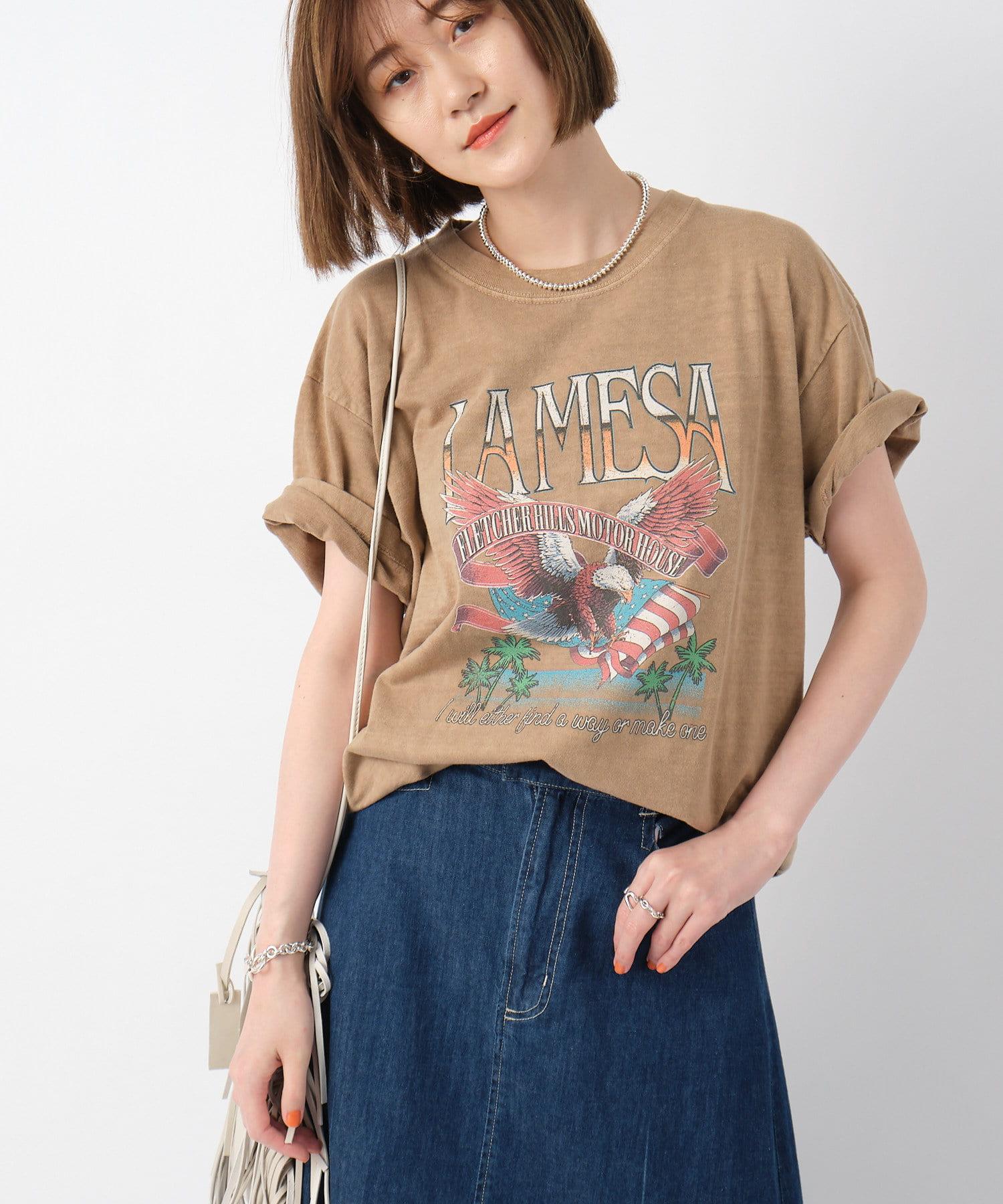 RIVE DROITE(リヴドロワ) レディース 【《GOOD ROCK SPEED》洗える】LA MESA Tシャツ キャメル
