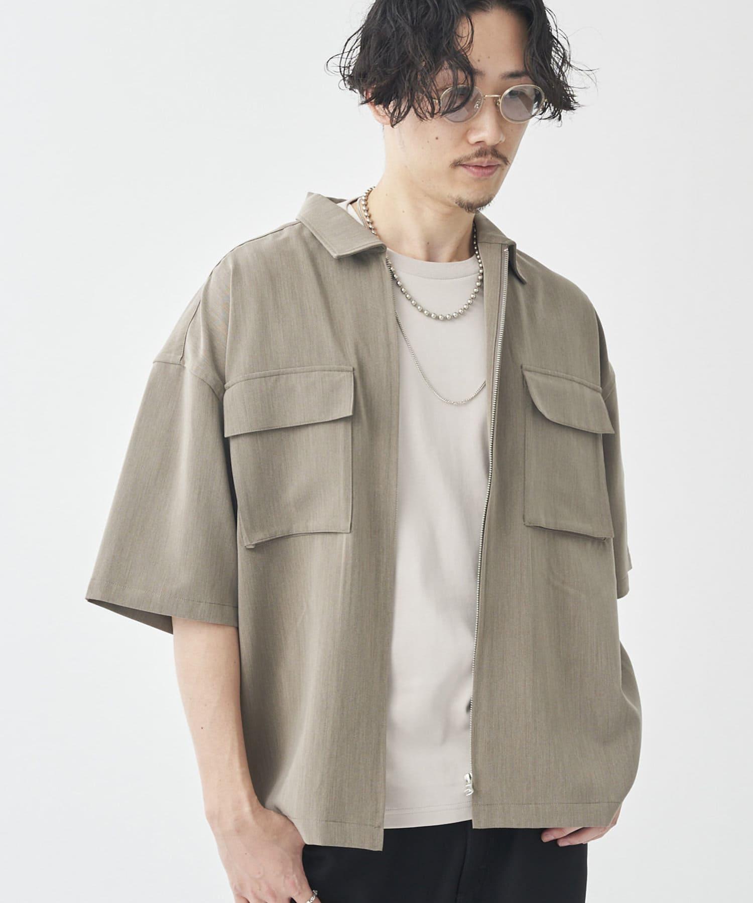 CPCM(シーピーシーエム) TR半袖ジップシャツ