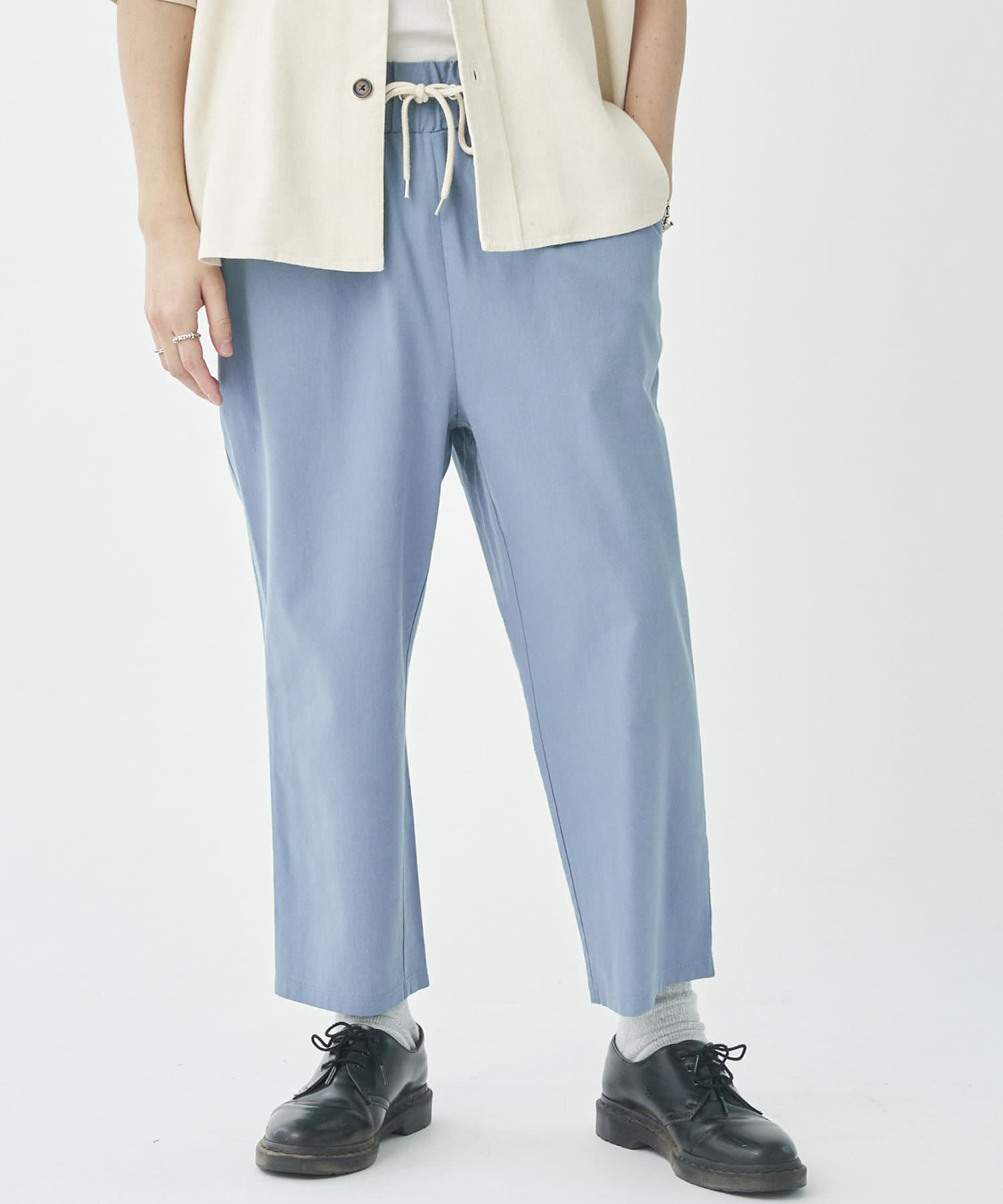 CPCM(シーピーシーエム) 綿レーヨンイージーワイドパンツ