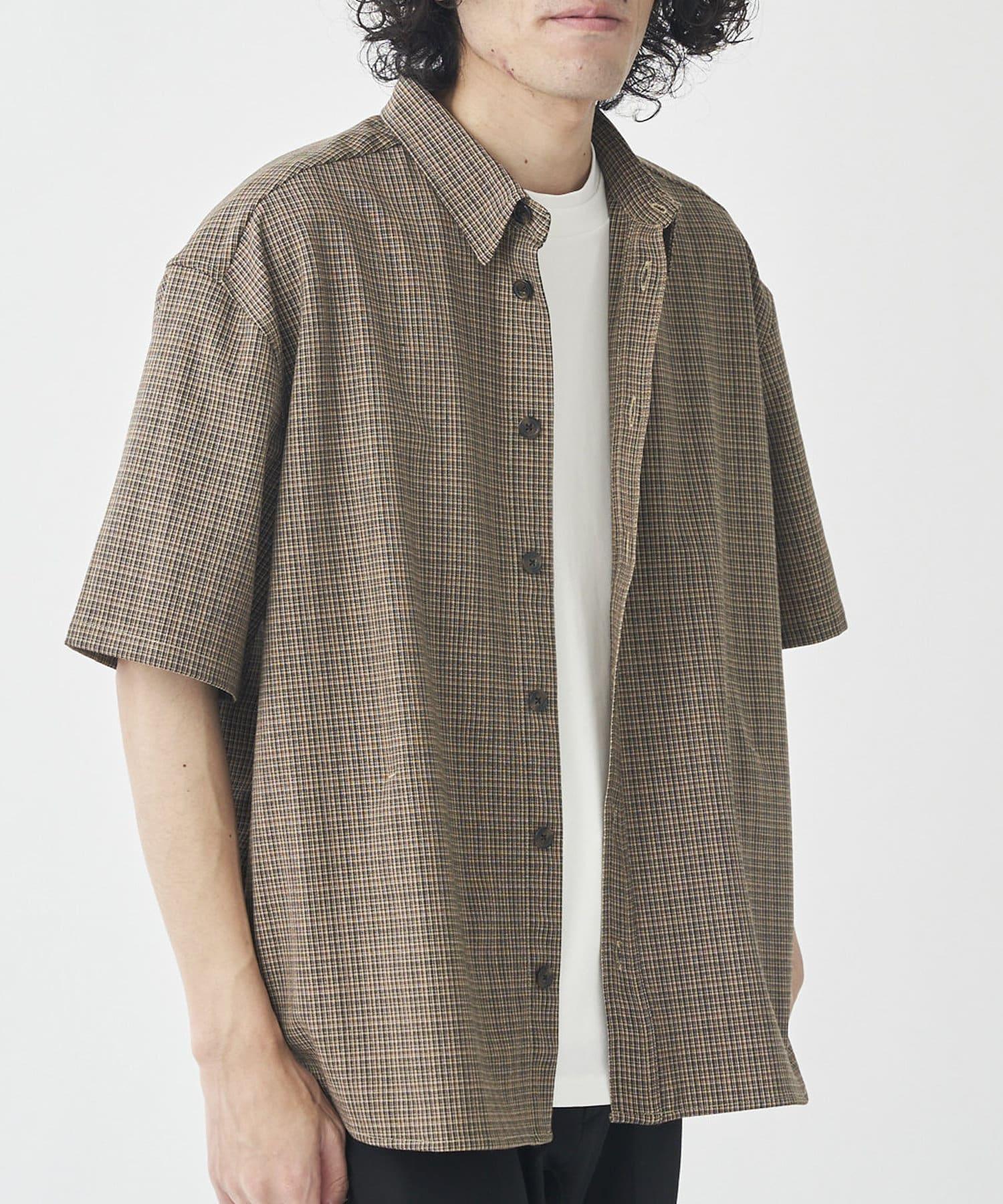 CPCM(シーピーシーエム) TRチェック半袖ビッグシャツ