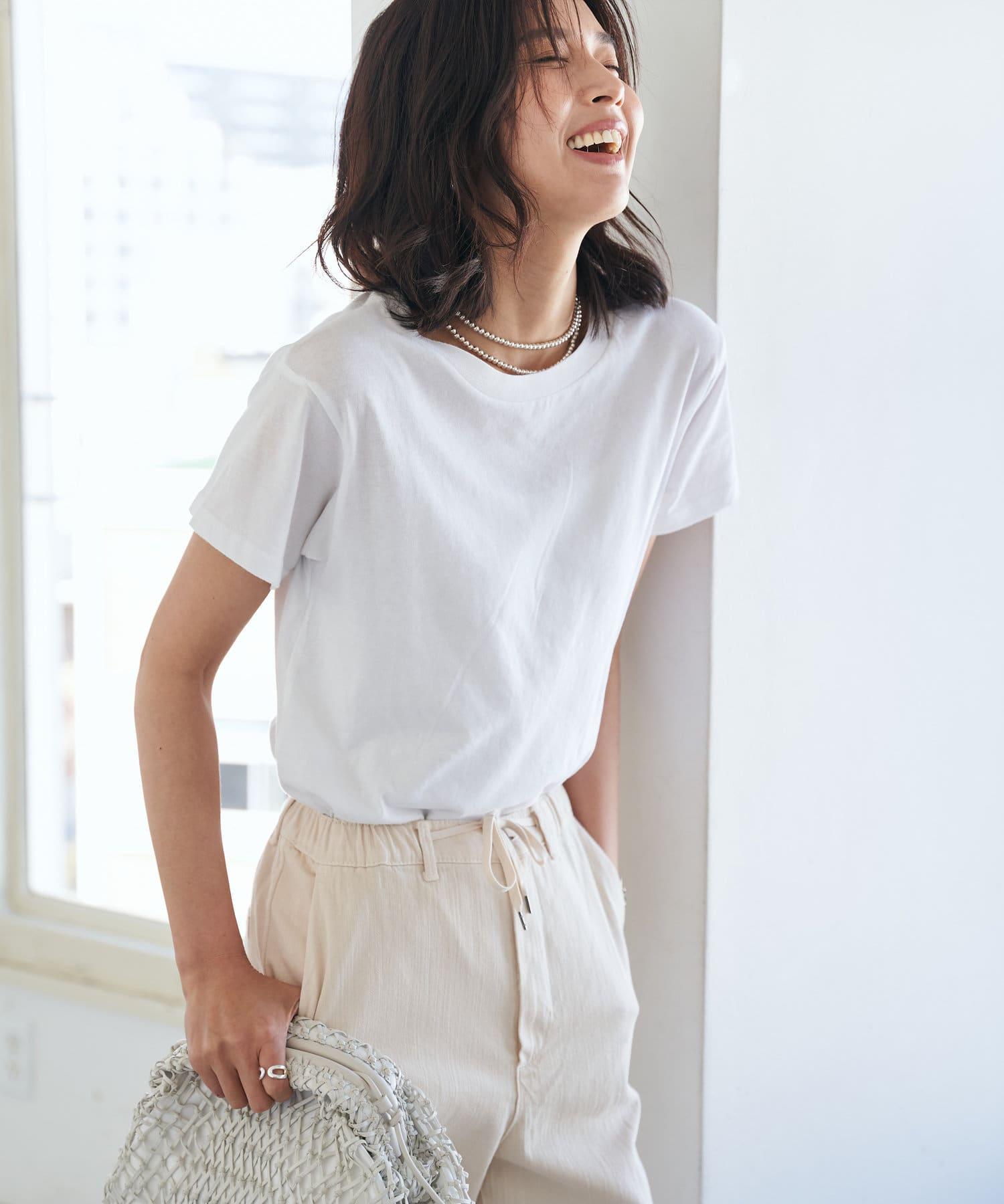 RIVE DROITE(リヴドロワ) レディース 【girl Dangerous/ガールデンジャラス】ワイドTシャツ ホワイト
