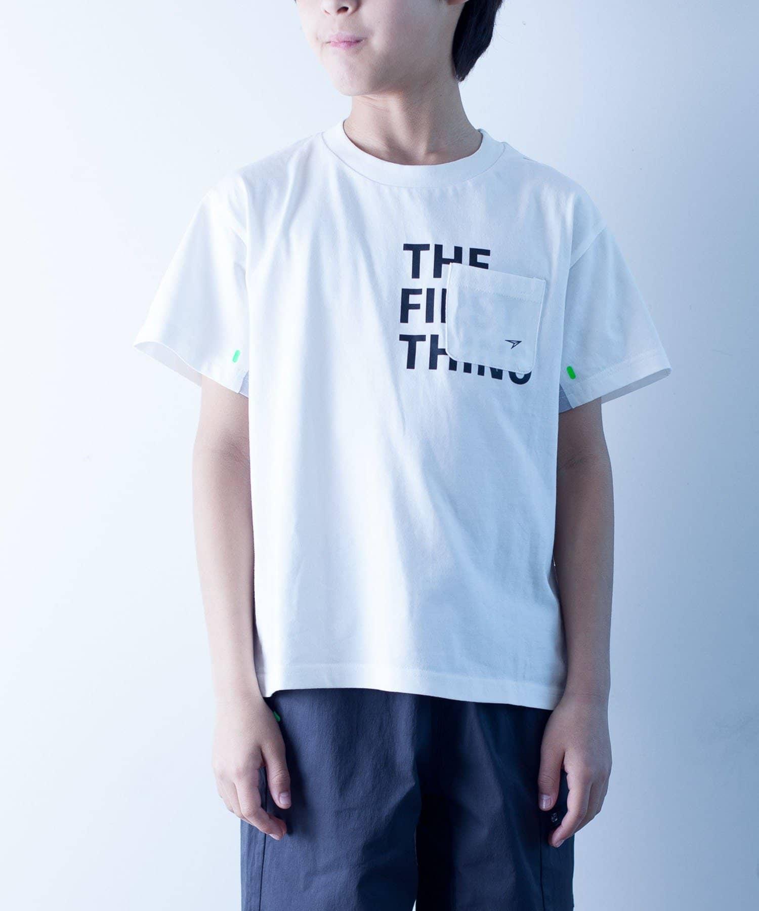 CIAOPANIC TYPY(チャオパニックティピー) キッズ 【KIDS】【瞬足】シルケット天竺ポケットTee エクリュ