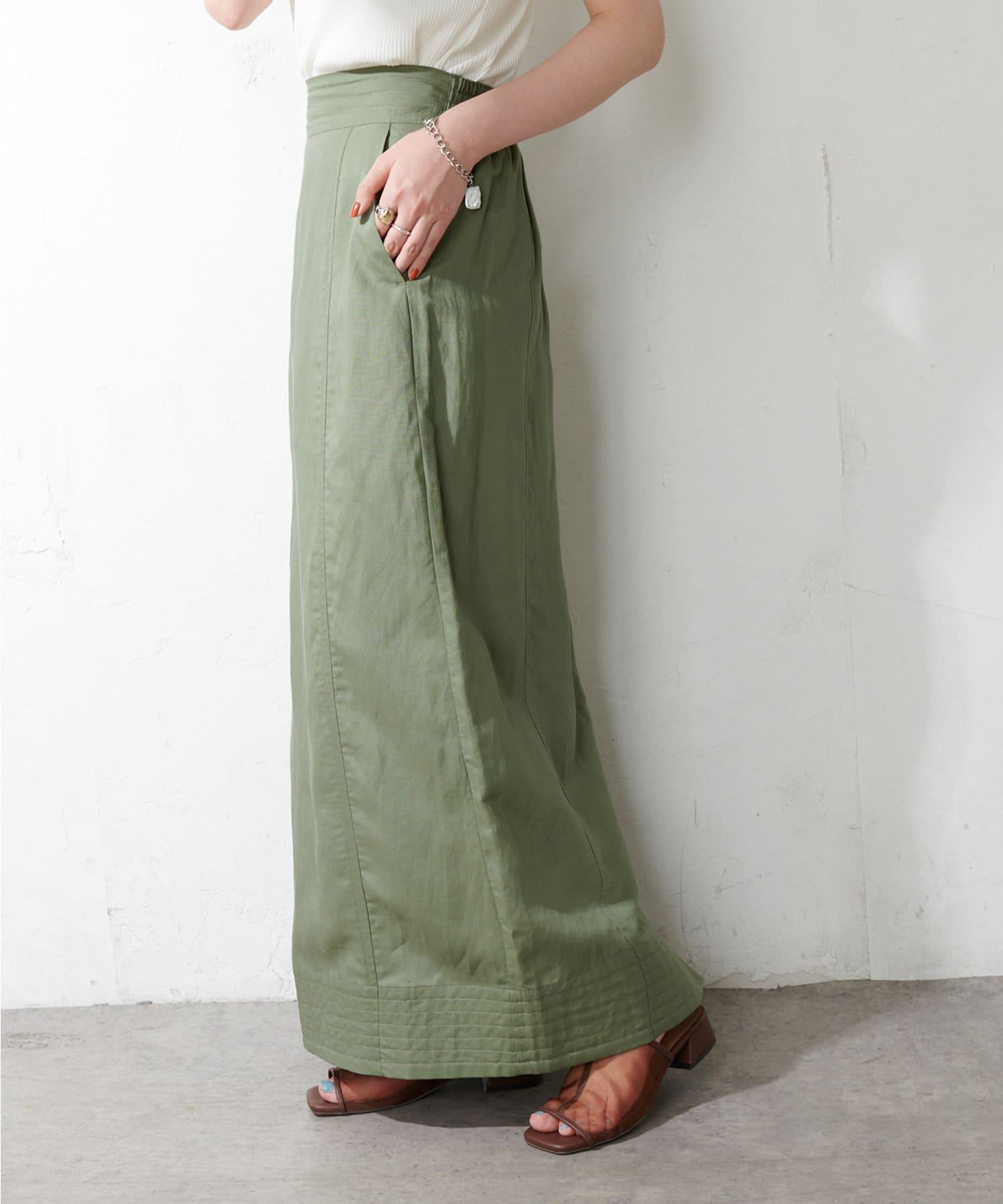 Discoat(ディスコート) テンセル混ワークナロースカート