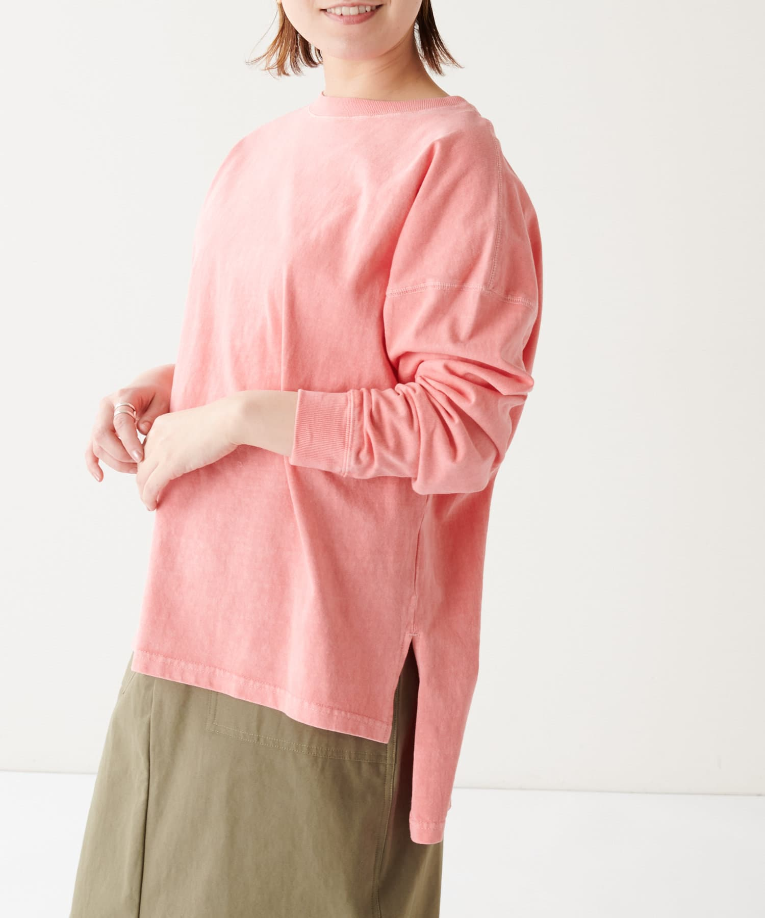 BONbazaar(ボンバザール) 天竺バイオウォッシュムジロンTシャツ
