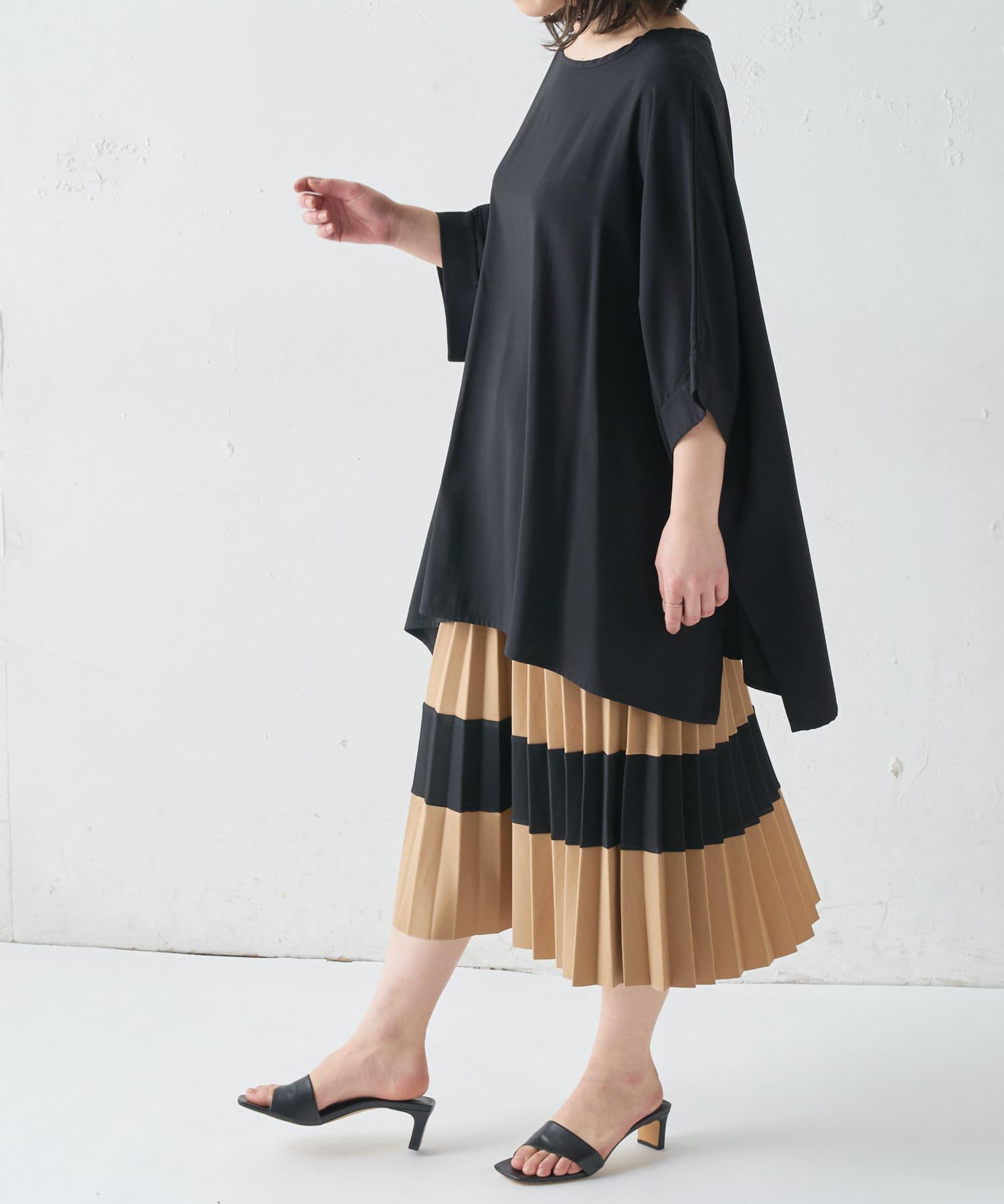 BONbazaar(ボンバザール) 《WEB限定》ワイドトップス+プリーツスカートSET