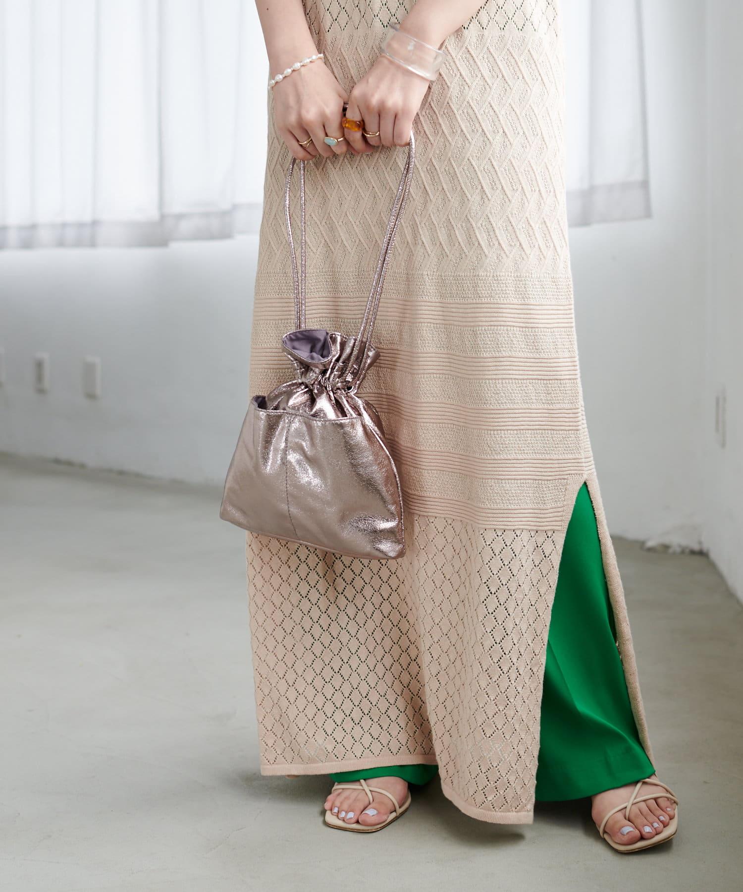 Discoat(ディスコート) メタリック巾着トートバッグ《WEB限定カラーあり》