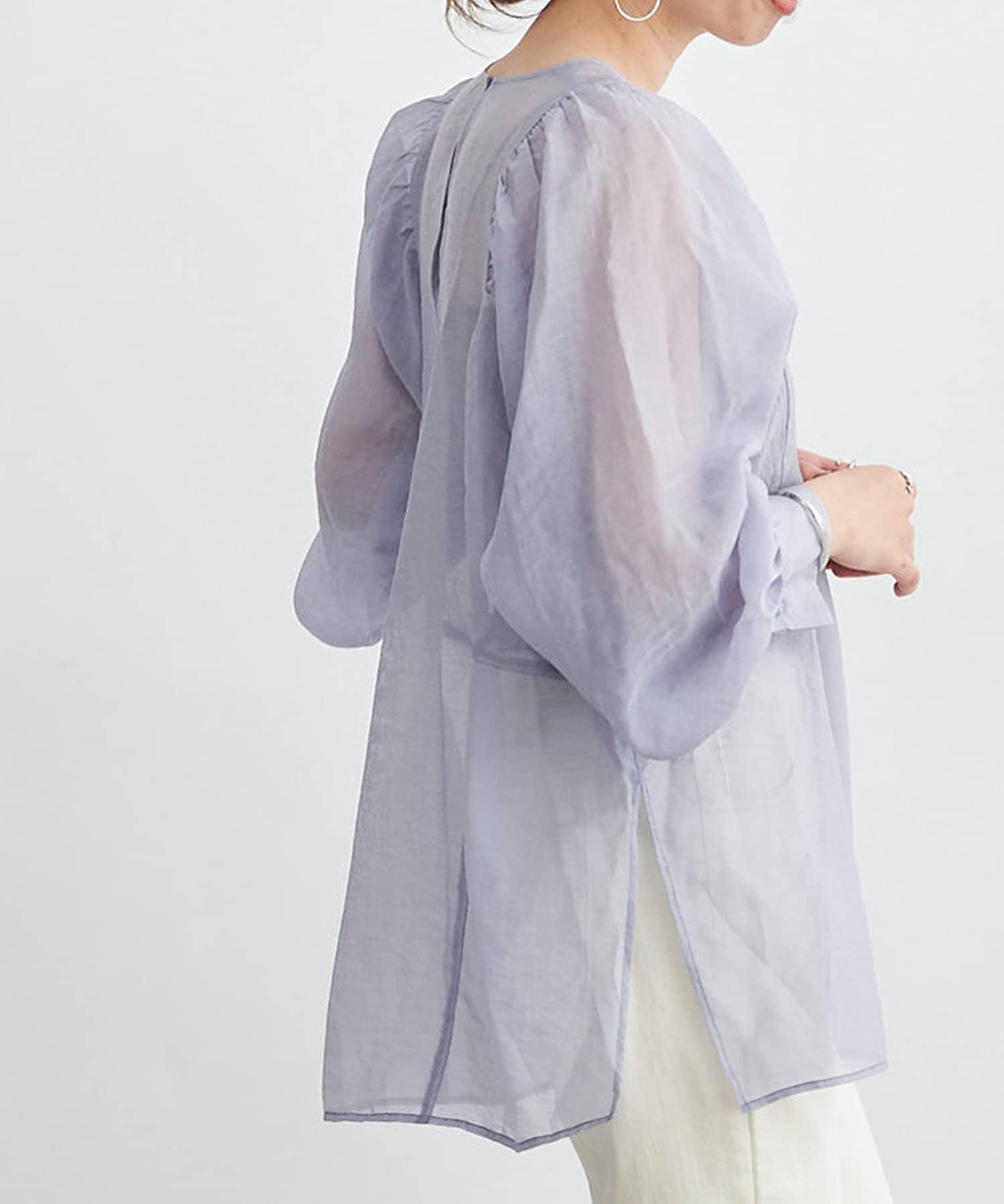 DOUDOU(ドゥドゥ) 【WEB限定】袖ギャザーボリュームブラウス