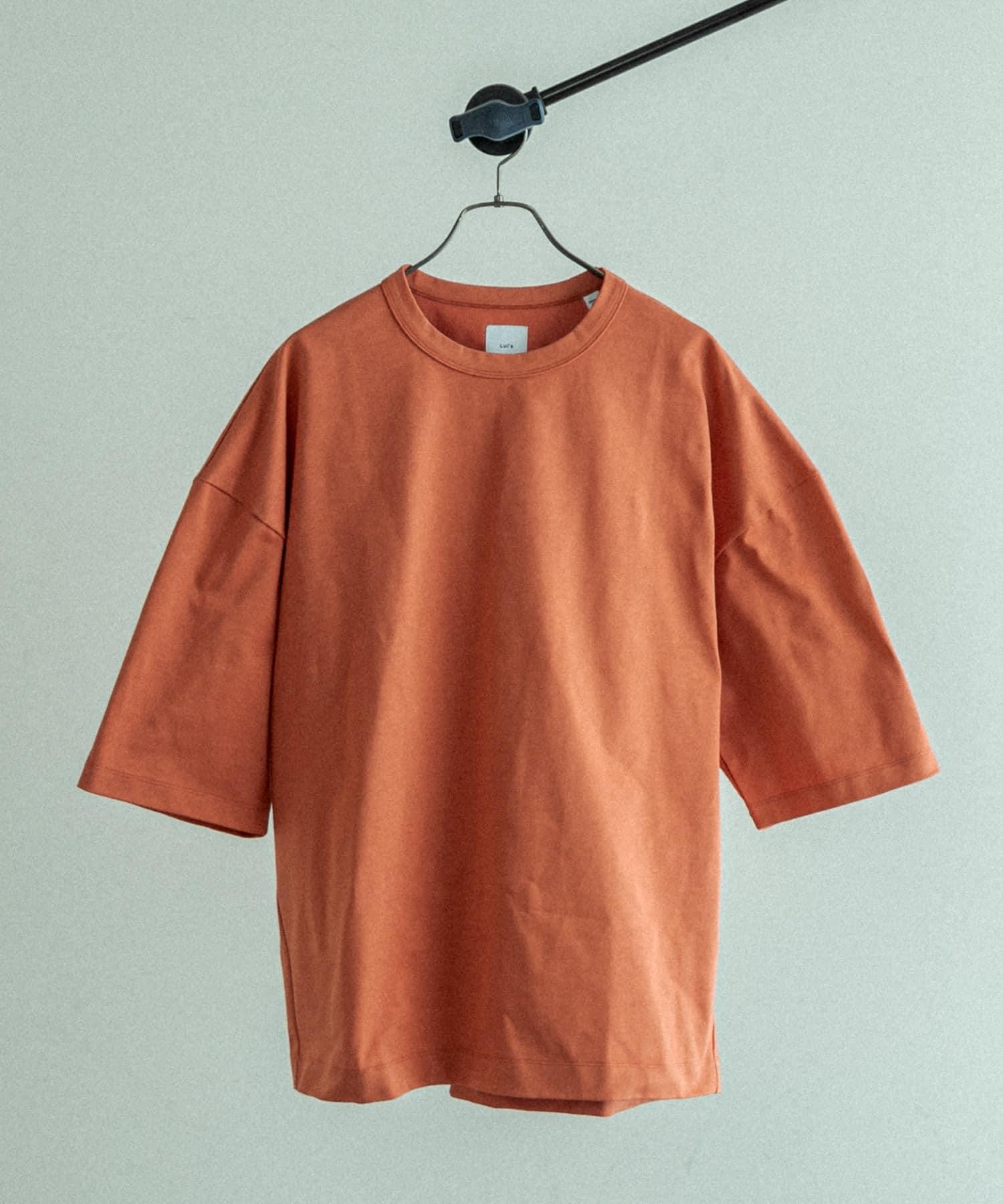 Lui's(ルイス) ハイクオリティー7分袖ビッグシルエットTシャツ