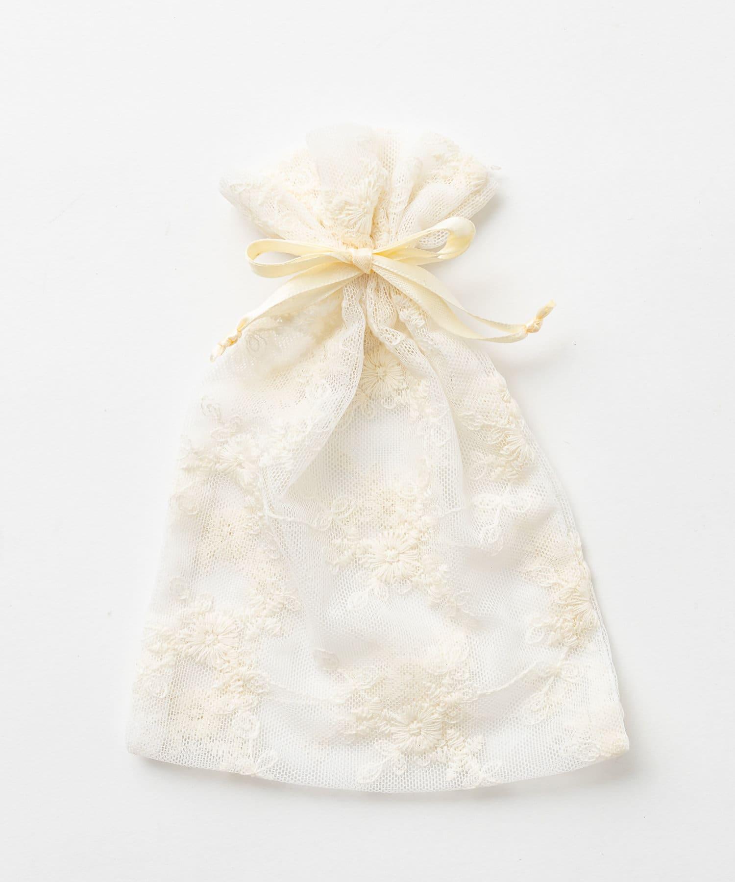 Lattice(ラティス) レディース 【WEB限定】レース巾着ポーチM アイボリー