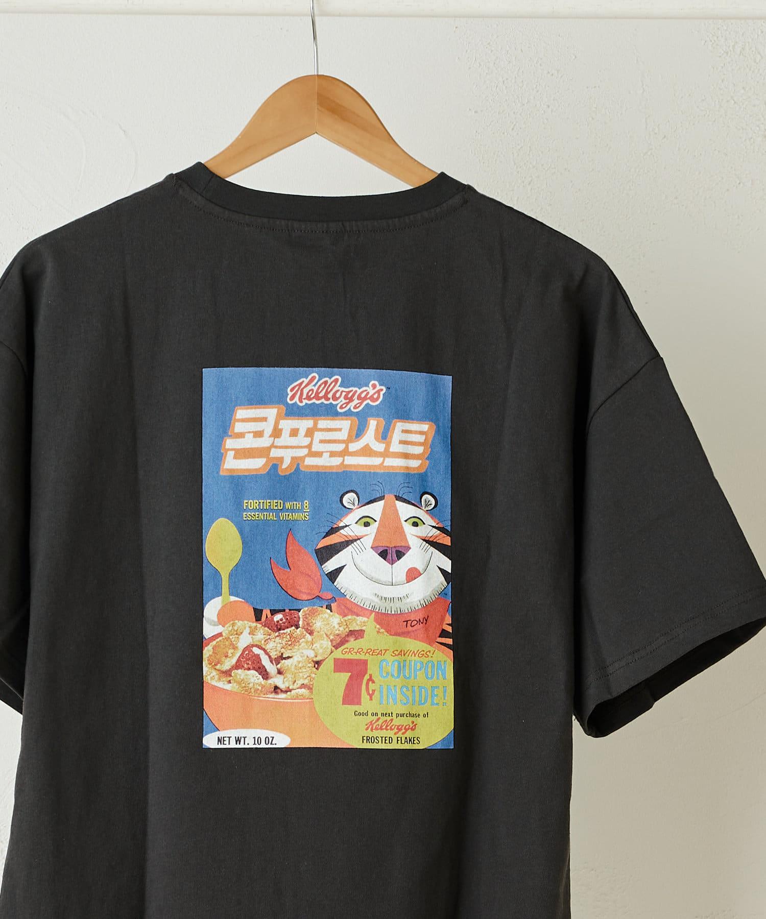 Daily russet(デイリー ラシット) 【Kelloggs】 ケロッグ ボックスオーバーTシャツ