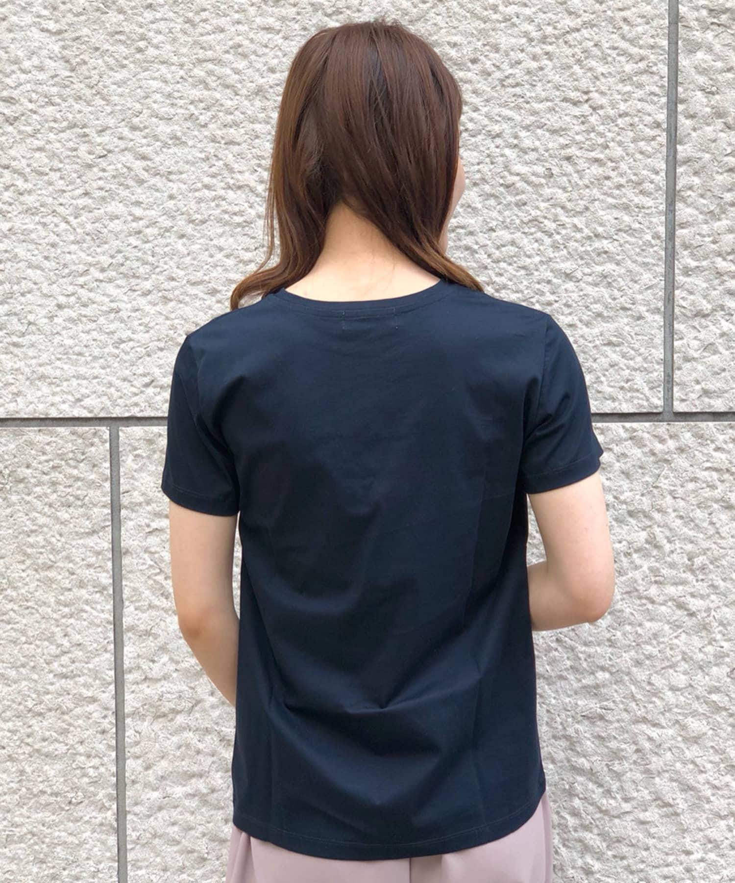 RIVE DROITE(リヴドロワ) 【大人のシンプルTシャツ】コンパクトヤーンクルーTシャツ