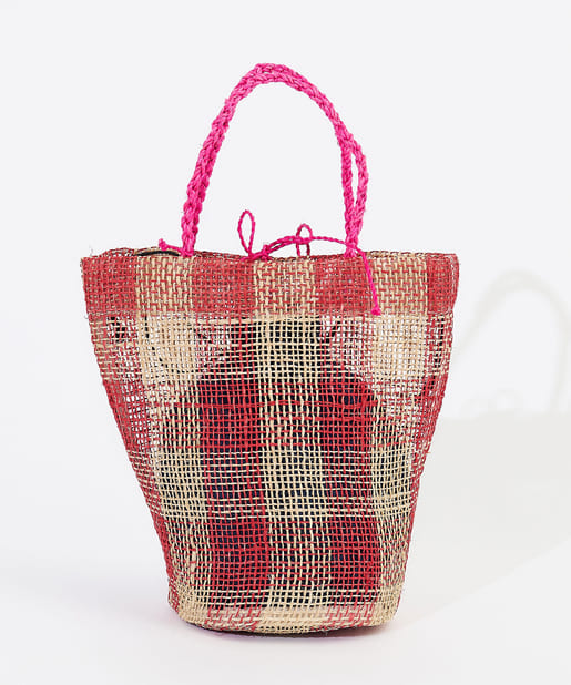 OUTLET premium(アウトレット プレミアム) 【HALIN(ハリン)】チェックカゴバッグ