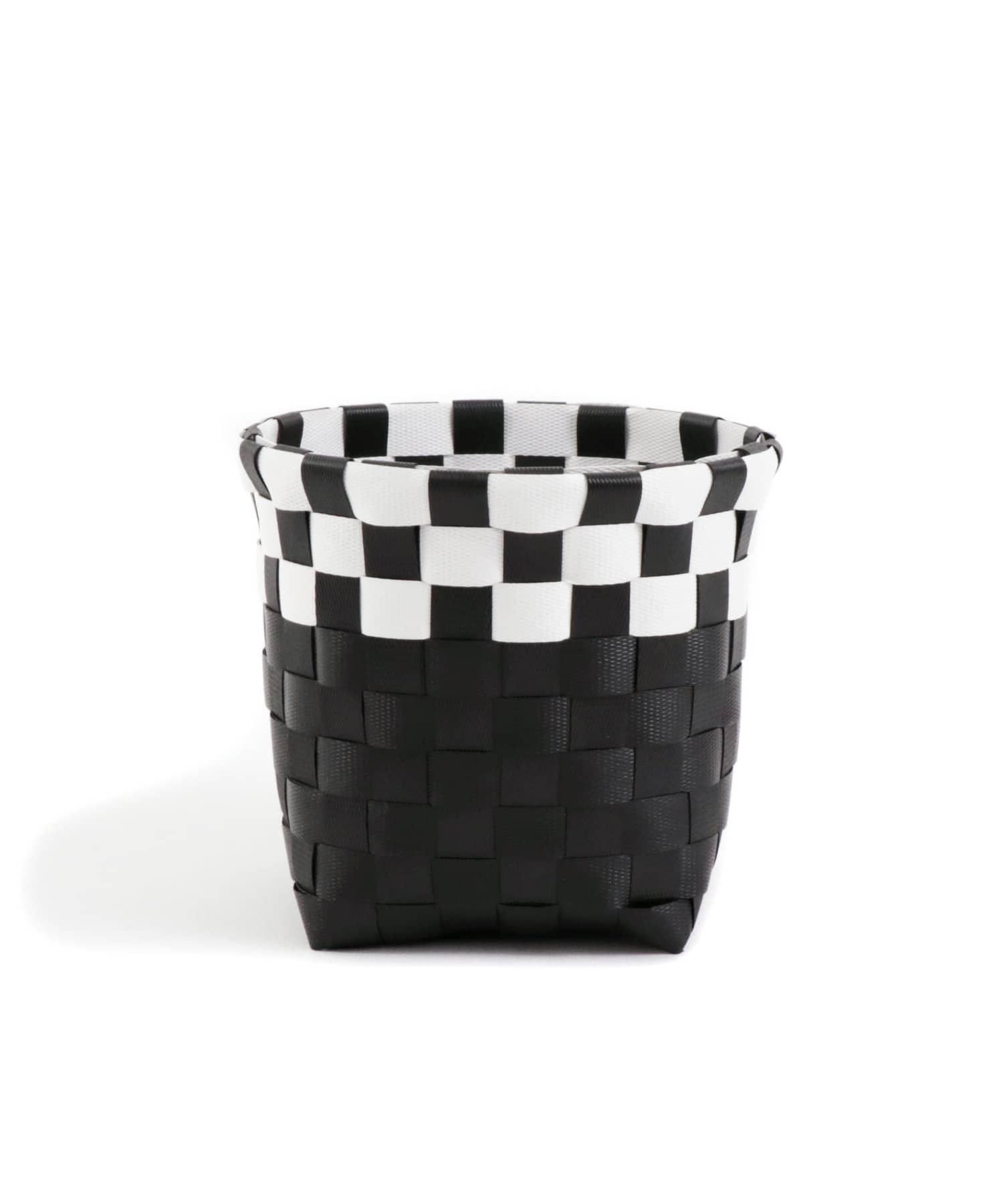 3COINS(スリーコインズ) ライフスタイル 【ASOKO】編み込みボックス(Mサイズ) ブラック