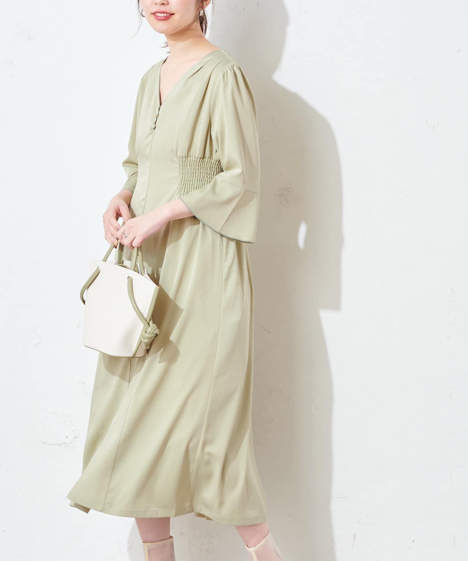 natural couture(ナチュラルクチュール) 【WEB限定カラー有り】レトロ小花配色ワンピース