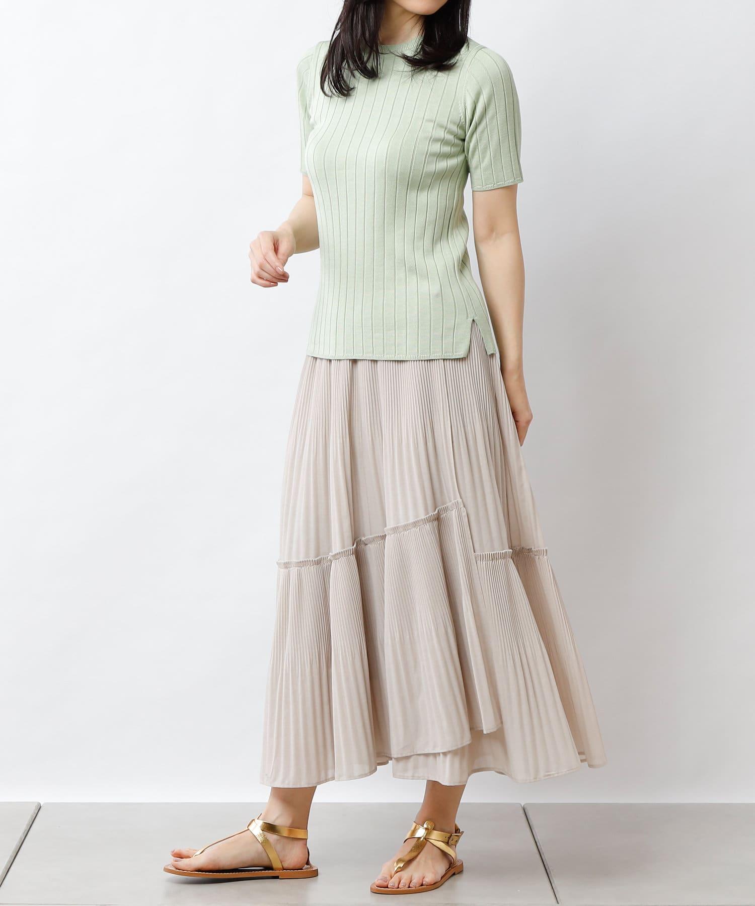PLUS OTO.HA(プラス オトハ) 華やかプリーツラップスカート