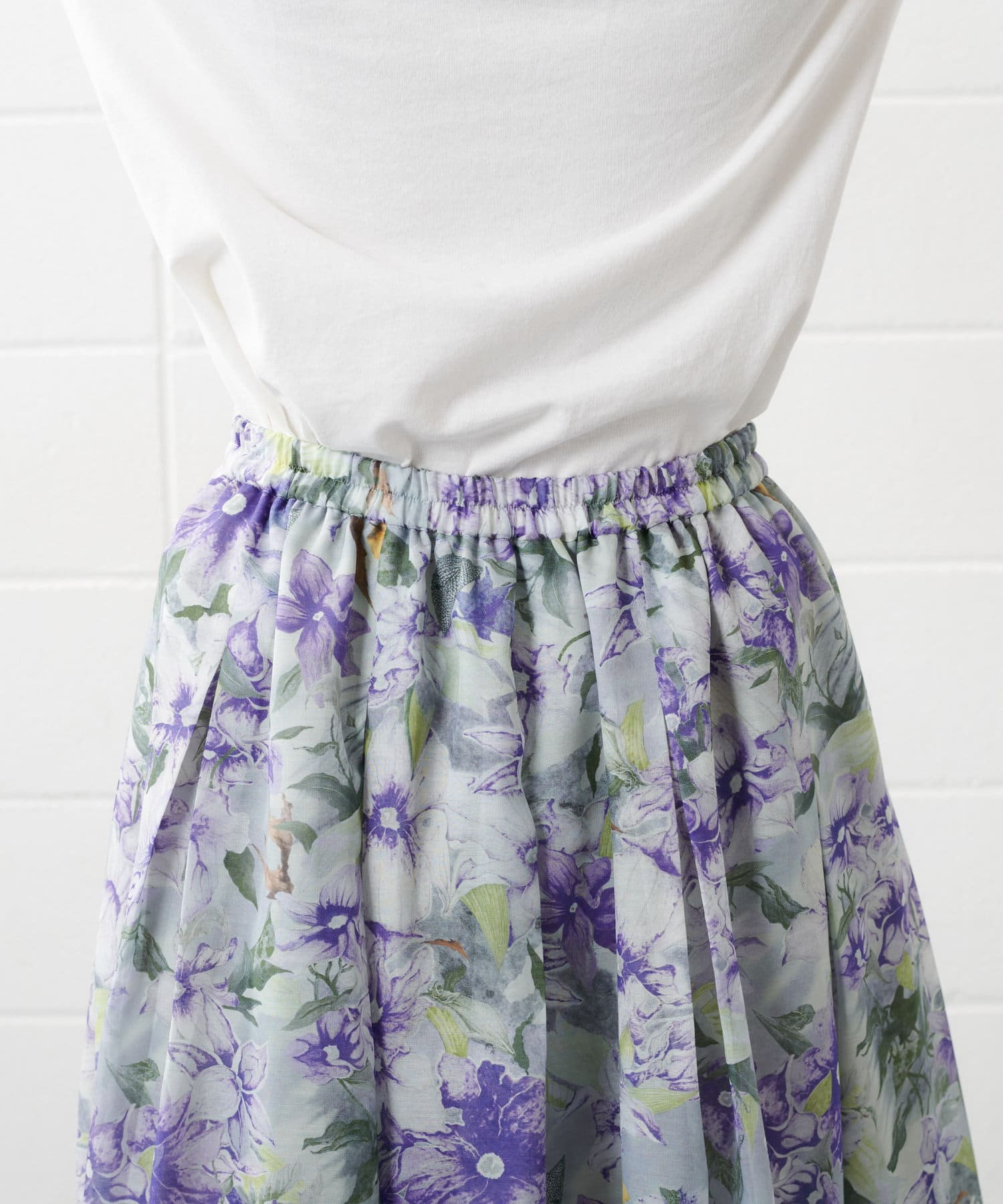 PLUS OTO.HA(プラス オトハ) クレマティスタックプリーツスカート