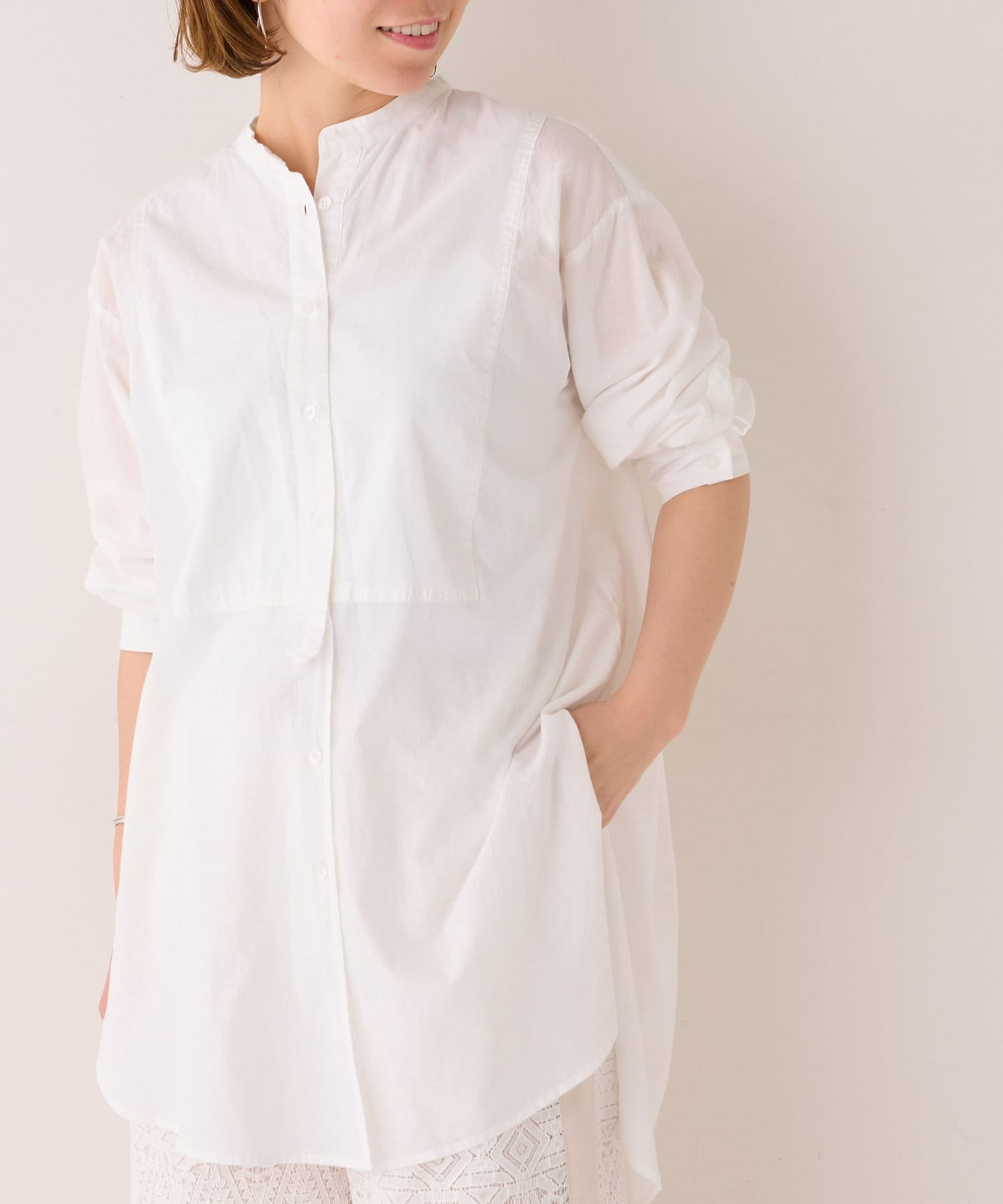 BONbazaar(ボンバザール) ≪一押し≫綿製品染めブラウス◆