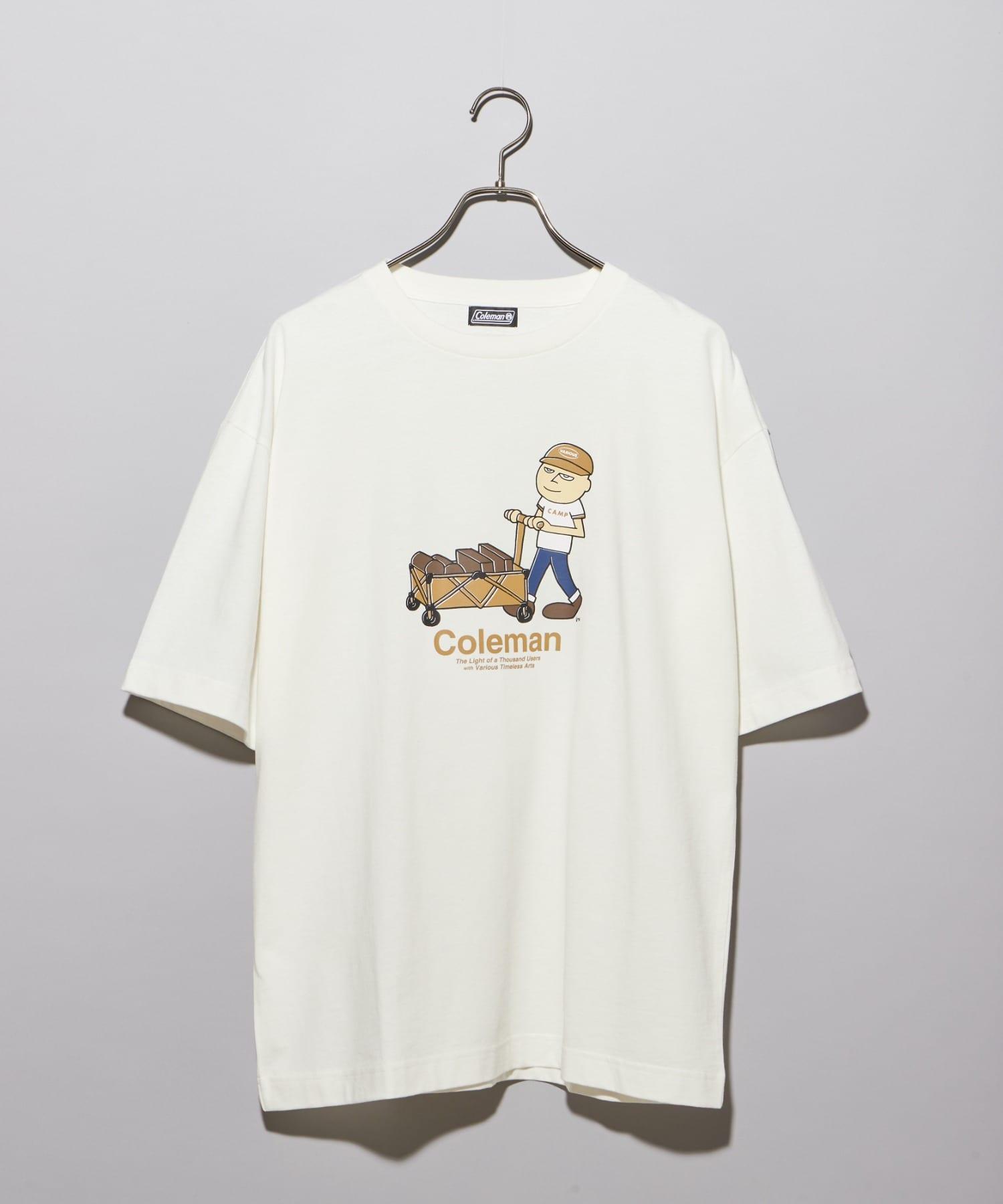 CIAOPANIC(チャオパニック) 【Coleman×CIAOPANIC】CAMP MAN アートプリントTシャツ