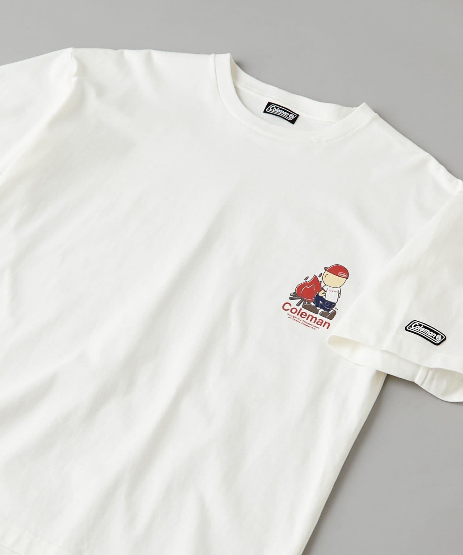 CIAOPANIC(チャオパニック) 【Coleman×CIAOPANIC】TAKIBI MAN プリントTシャツ