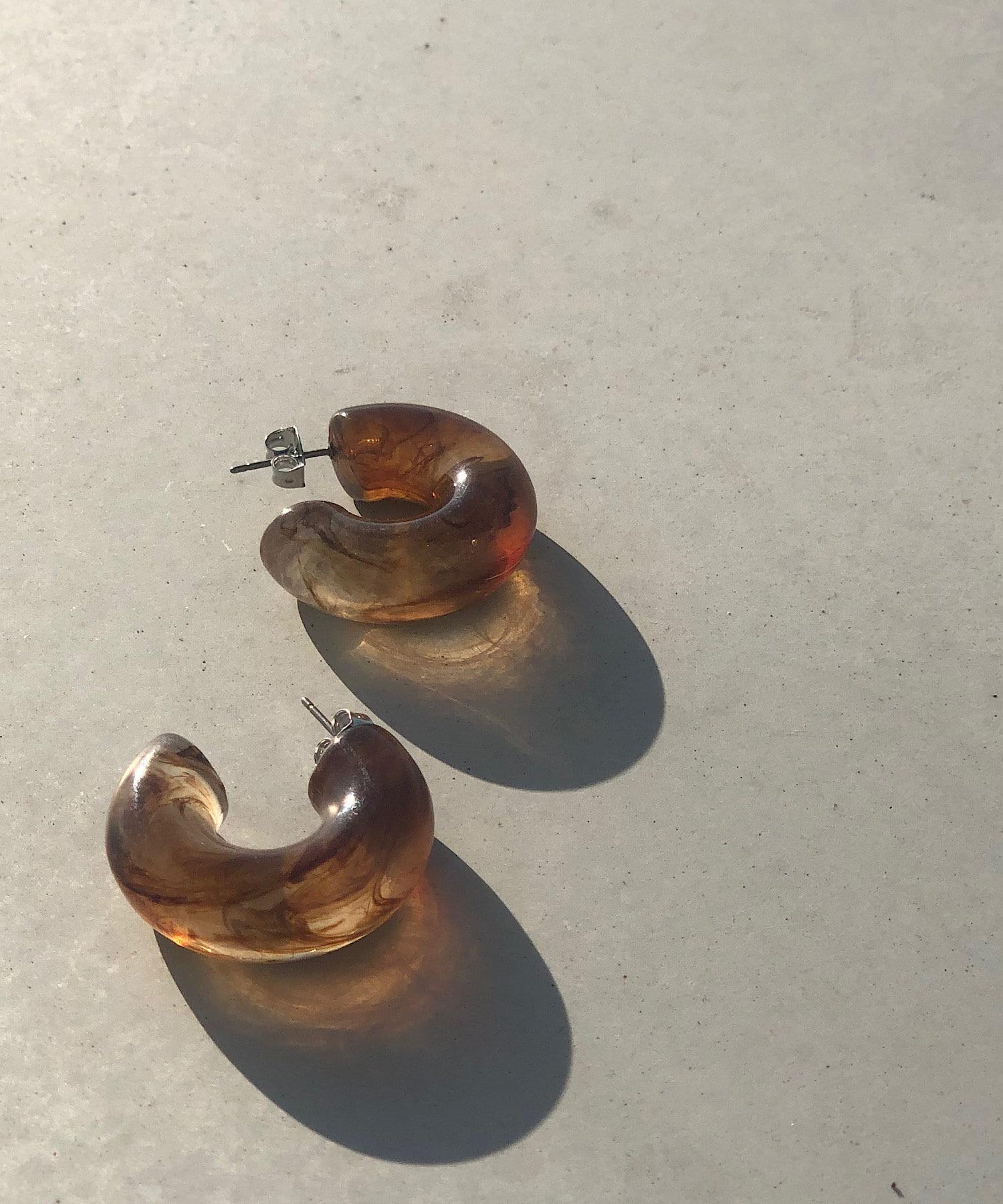un dix cors(アンディコール) 【透明感あふれるキャッチーな耳元】クリアボリュームピアス