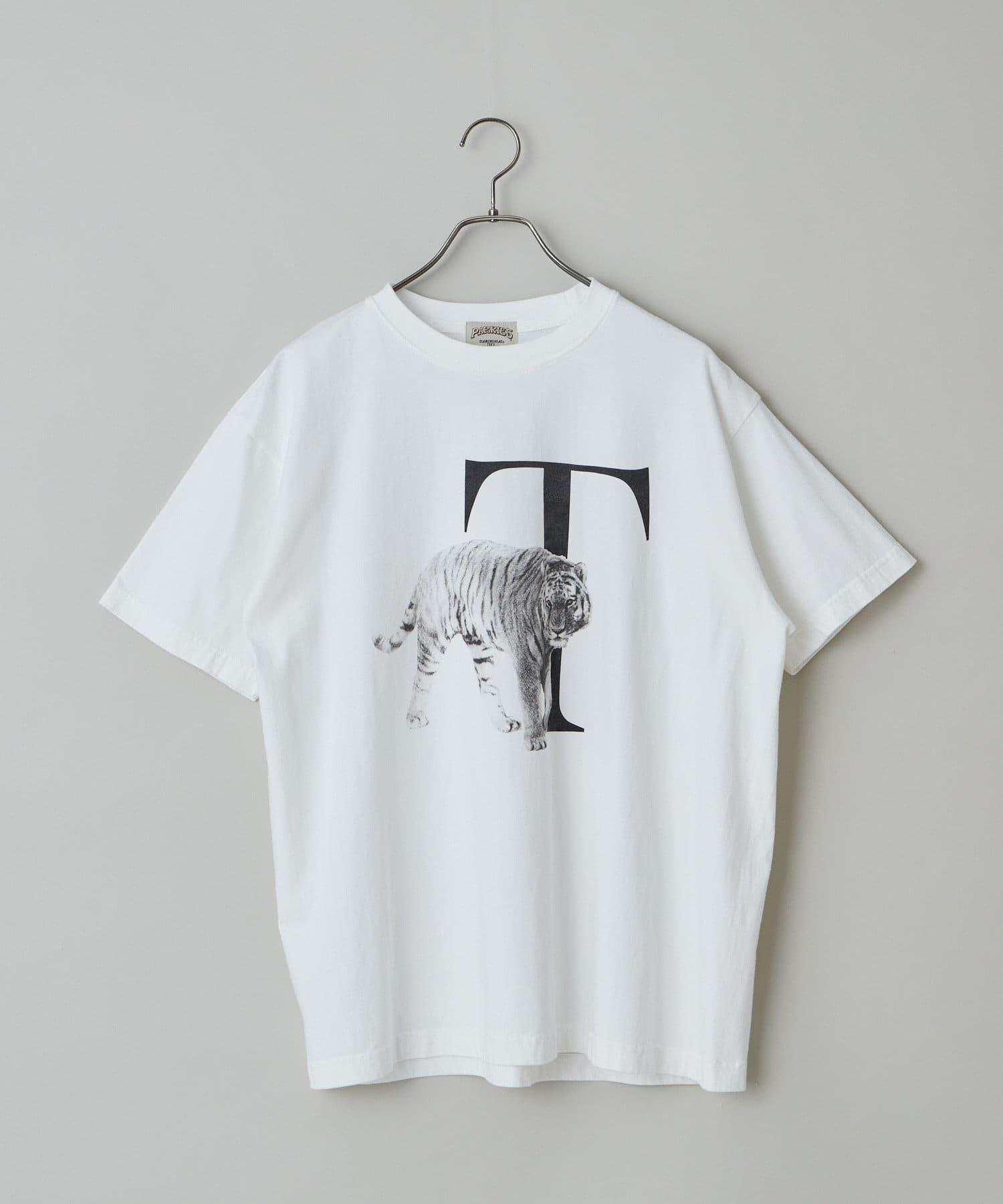 CIAOPANIC(チャオパニック) CIAOPANIC(チャオパニック) 【PARKIES/パーキーズ】オーガニックコットンアニマルプリントTシャツ オフホワイト