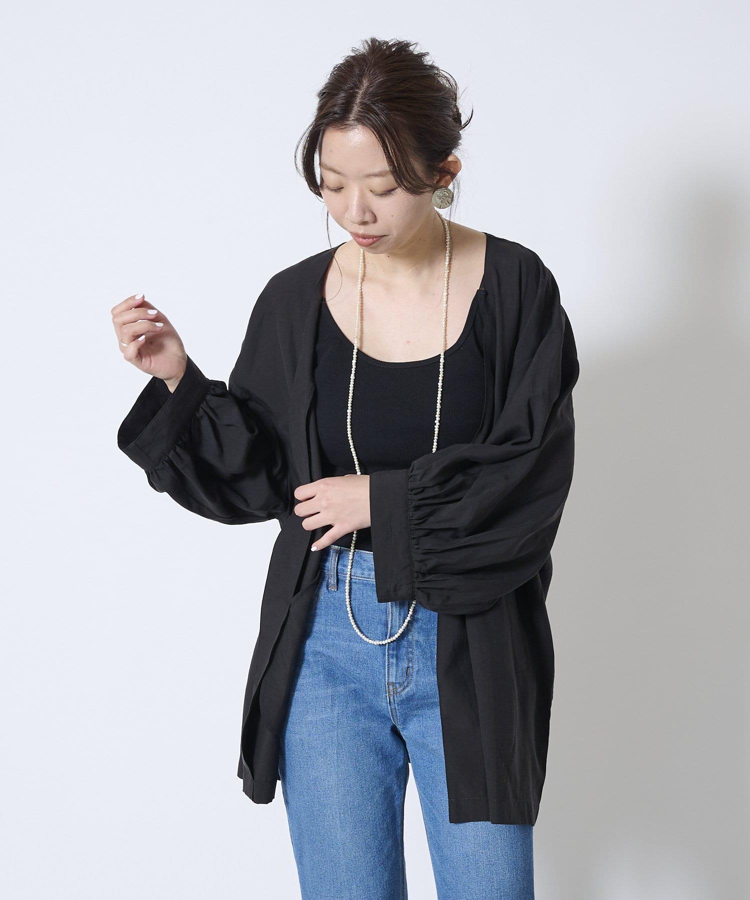 DOUDOU(ドゥドゥ) 【WEB限定】8分袖イージーカフスシャツジャケット