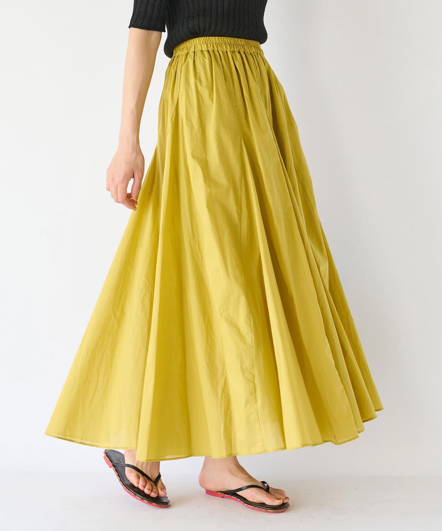 La boutique BonBon(ラブティックボンボン) 【手洗い可】綿ローンライトスカート