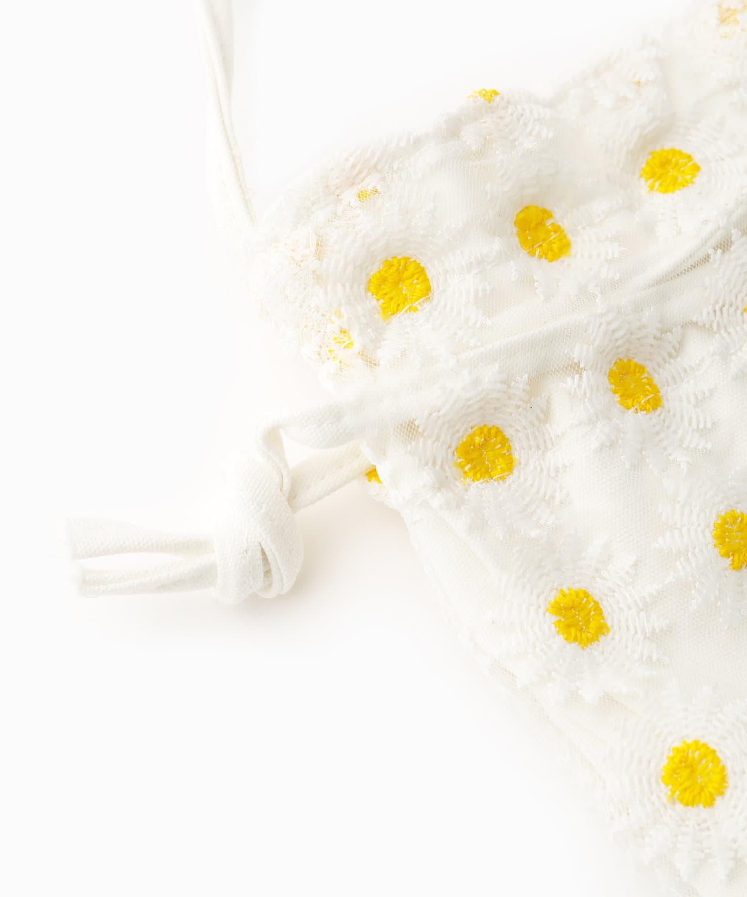 ASOKO(アソコ) 【hello korea】フラワー巾着ショルダーバッグ