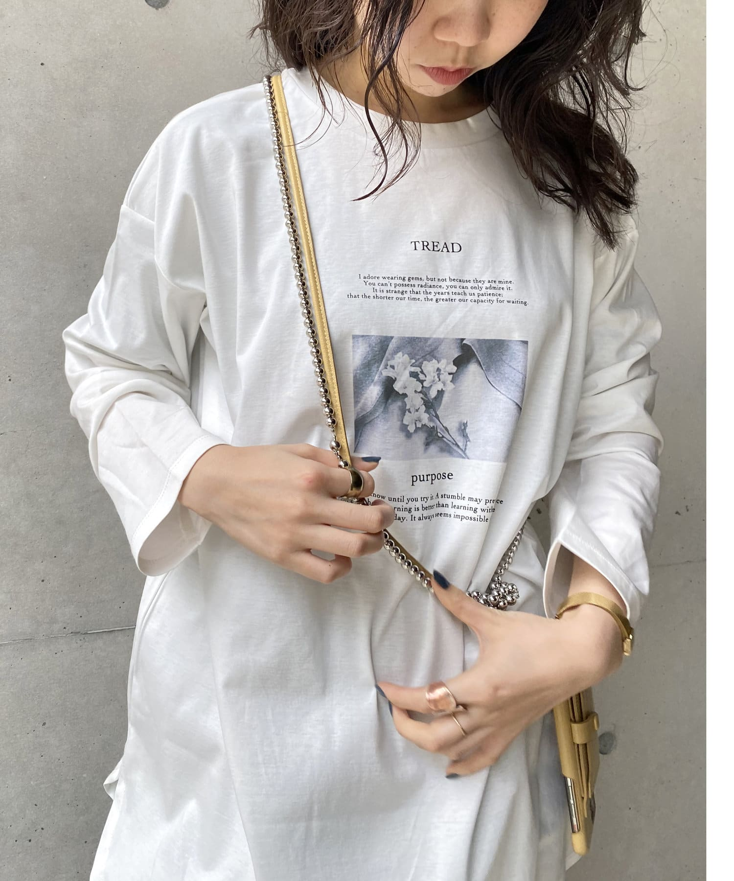 CAPRICIEUX LE'MAGE(カプリシュレマージュ) 〈WEB限定〉2WAYフォトロンT