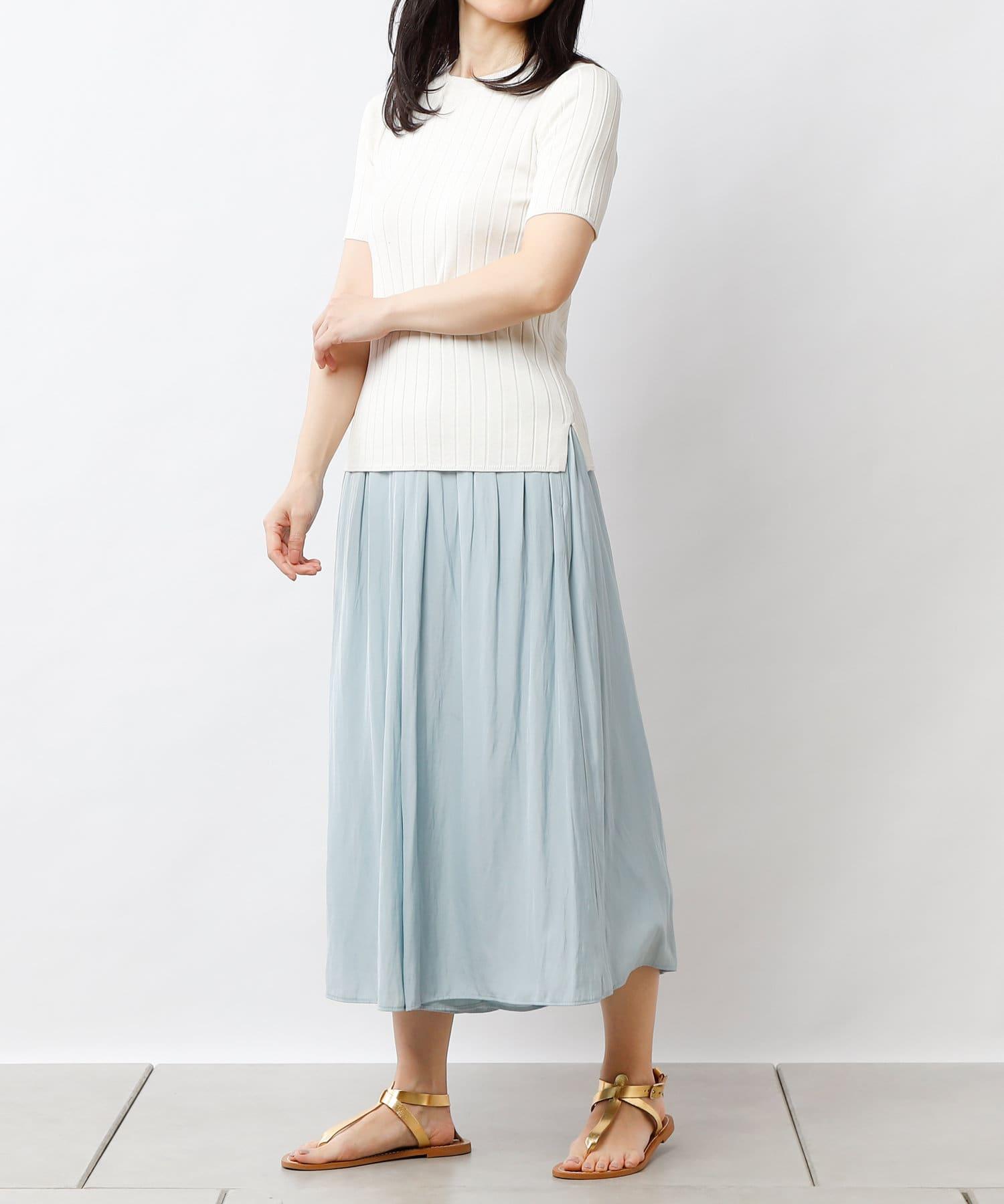 PLUS OTO.HA(プラス オトハ) エアリーナチュラルプリーツ スカーチョ