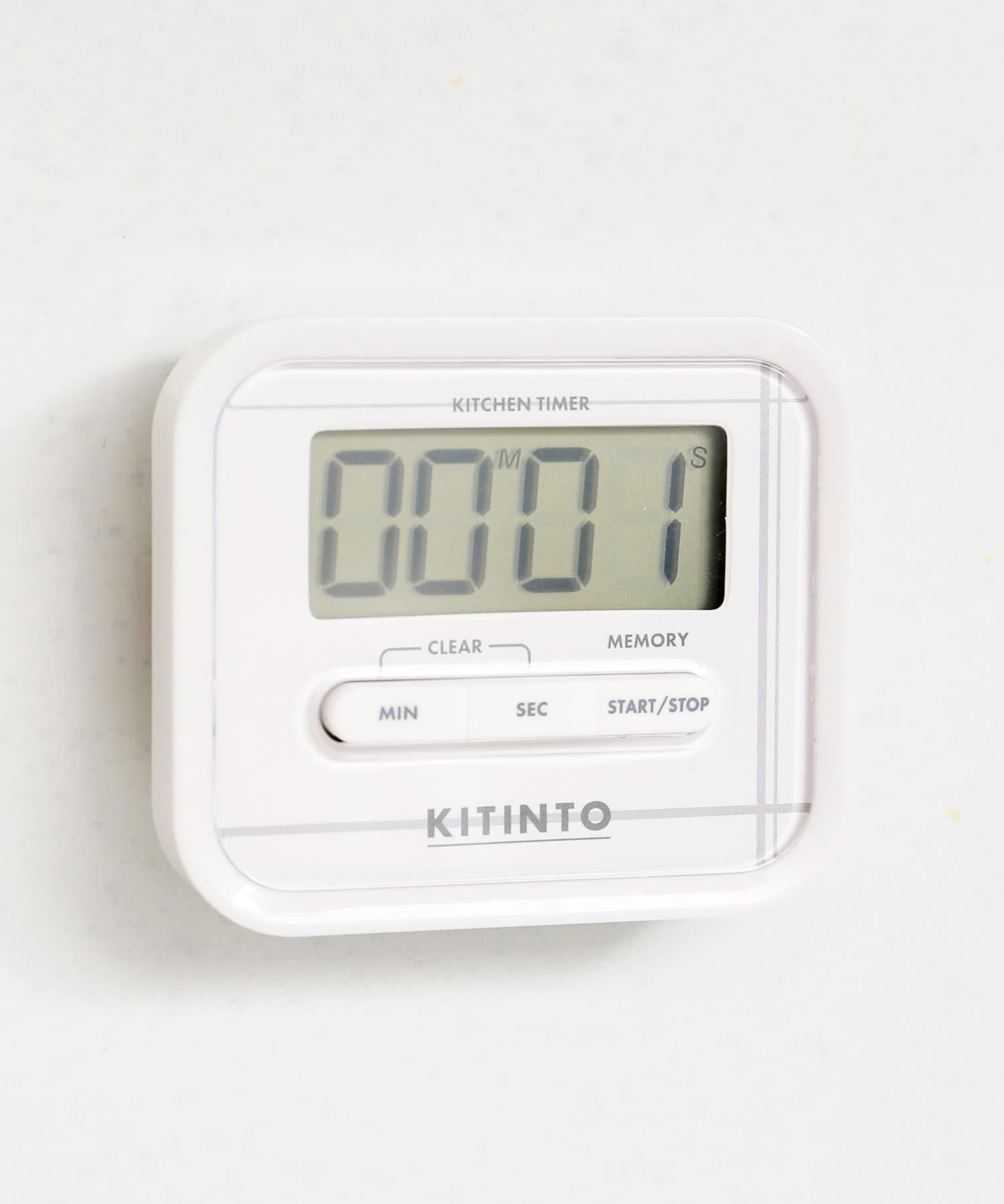 3COINS(スリーコインズ) ライフスタイル 【シンプルなロゴ入り】キッチンタイマー ホワイト