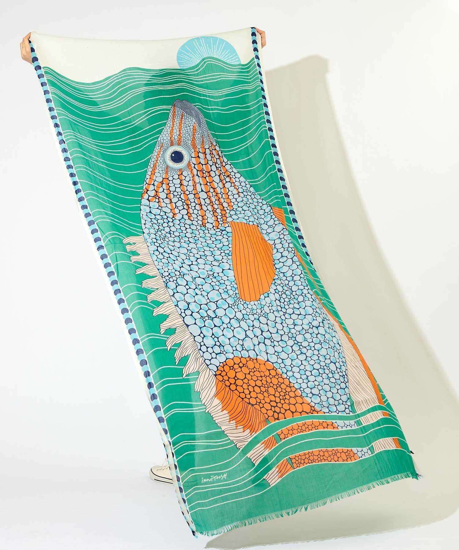 ear PAPILLONNER(イア パピヨネ) 【INOUI Editions(イヌイエディションズ)】魚柄ストール