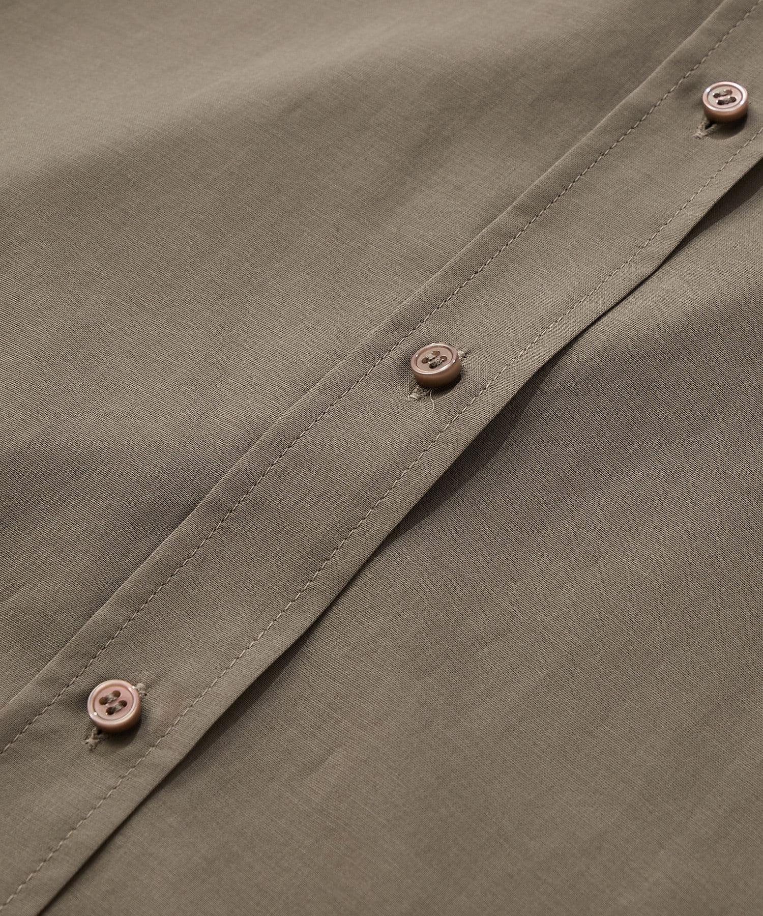 La boutique BonBon(ラブティックボンボン) 【手洗い可】コットンボイルロングシャツ