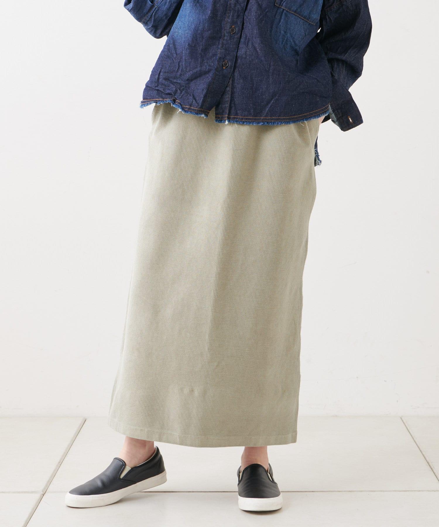 pual ce cin(ピュアルセシン) 【WEB限定】テレコピグメントスカート