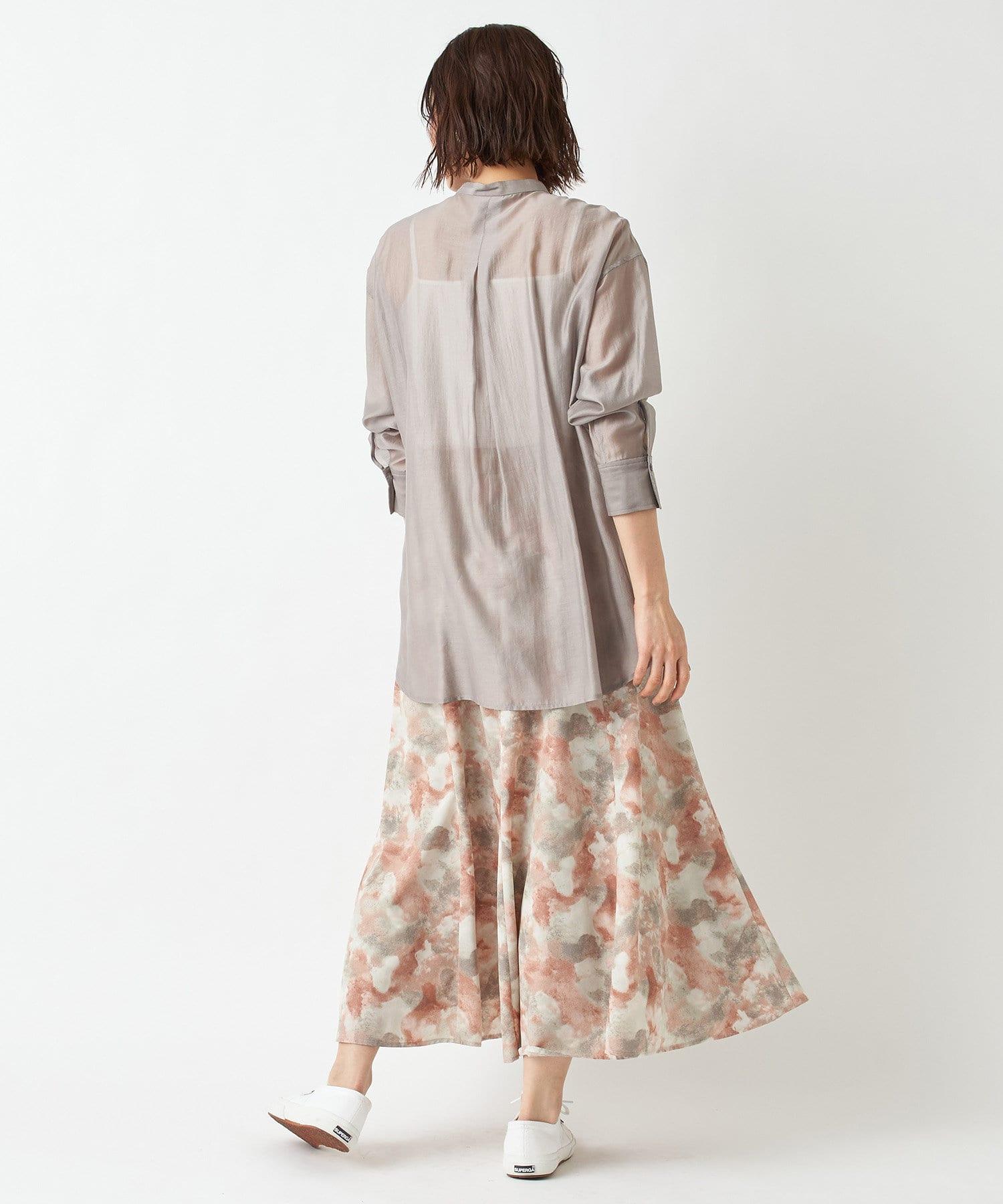 un dix cors(アンディコール) 【《大人フェミニンな印象に》手洗い可】ボカシプリントギャザースカート