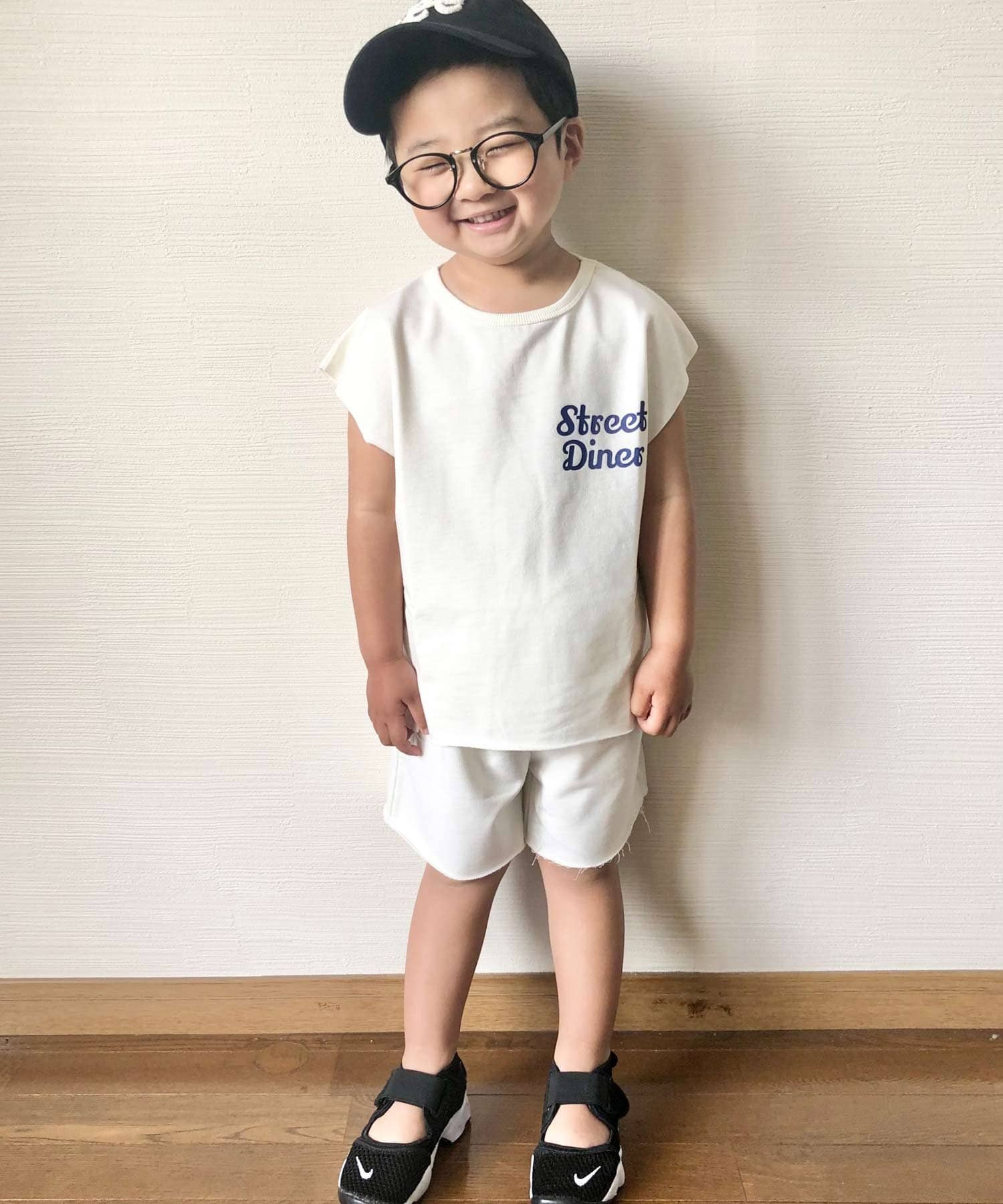 CIAOPANIC TYPY(チャオパニックティピー) 【KIDS】カレッジロゴ プリントスウェット セットアップ