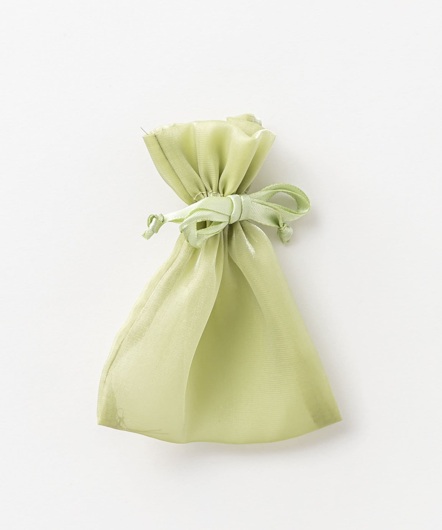 Lattice(ラティス) レディース シアー巾着ポーチS ライトグリーン