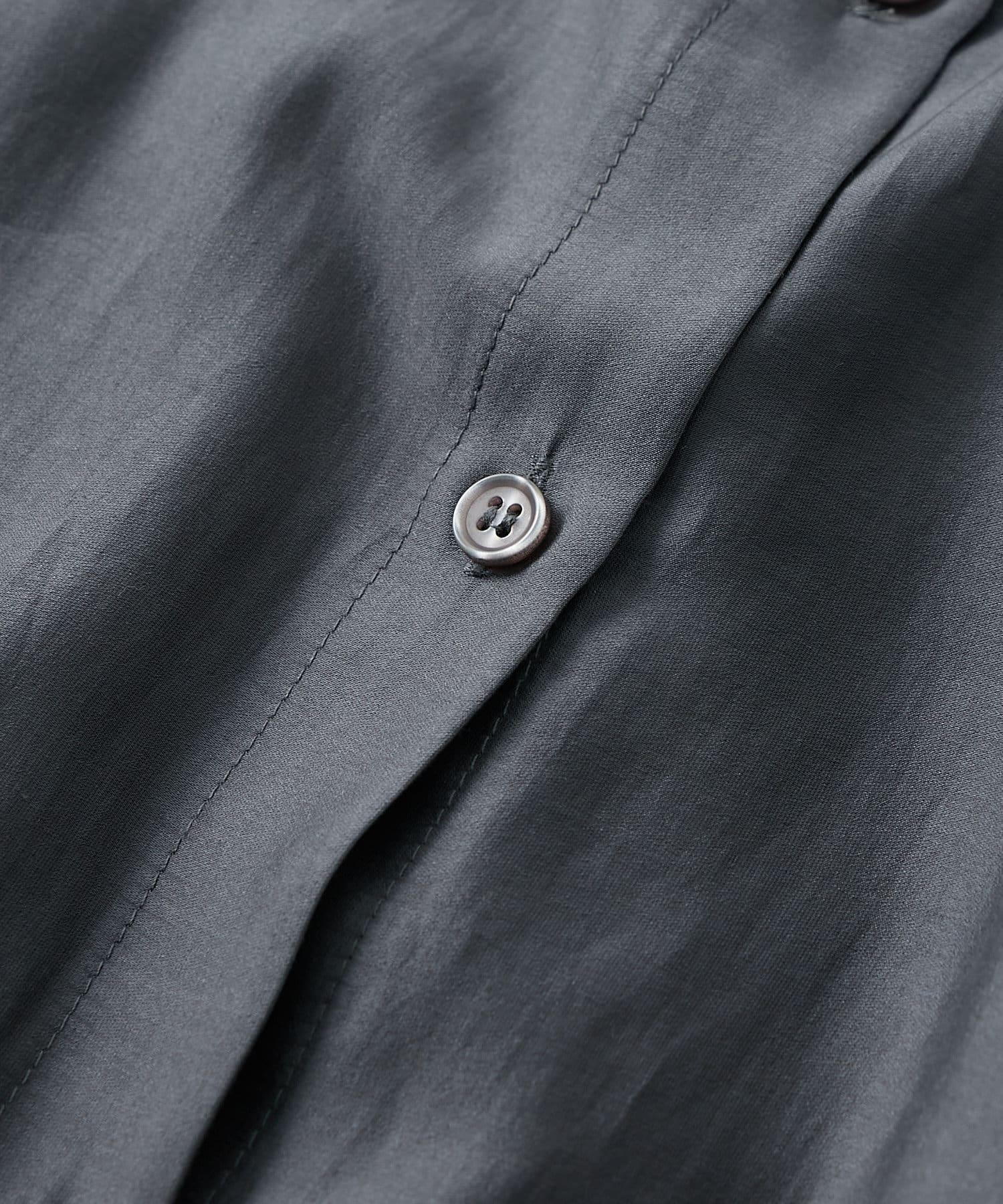 La boutique BonBon(ラブティックボンボン) 【手洗い可】シアーテンセルシャツワンピース