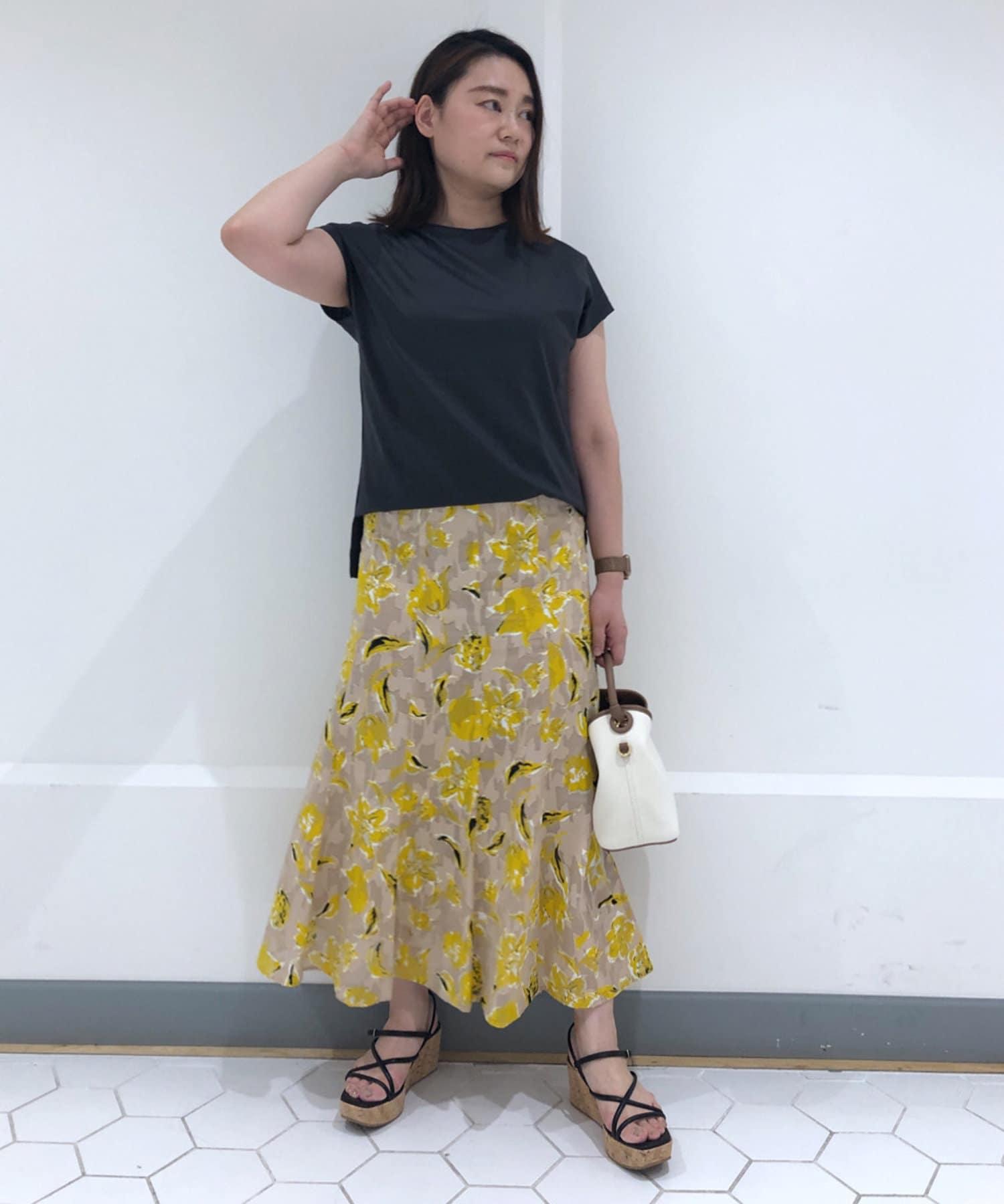 La boutique BonBon(ラブティックボンボン) 【洗える】コットンフラワーカットジャガードマーメイドスカート