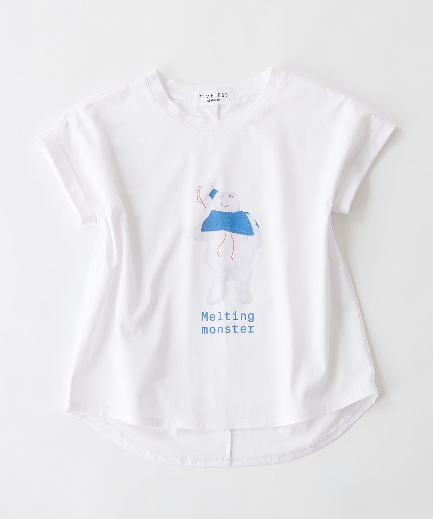 BONbazaar(ボンバザール) レディース 《長谷川 有里's キャラクター》Tシャツ Melting Monster ホワイト