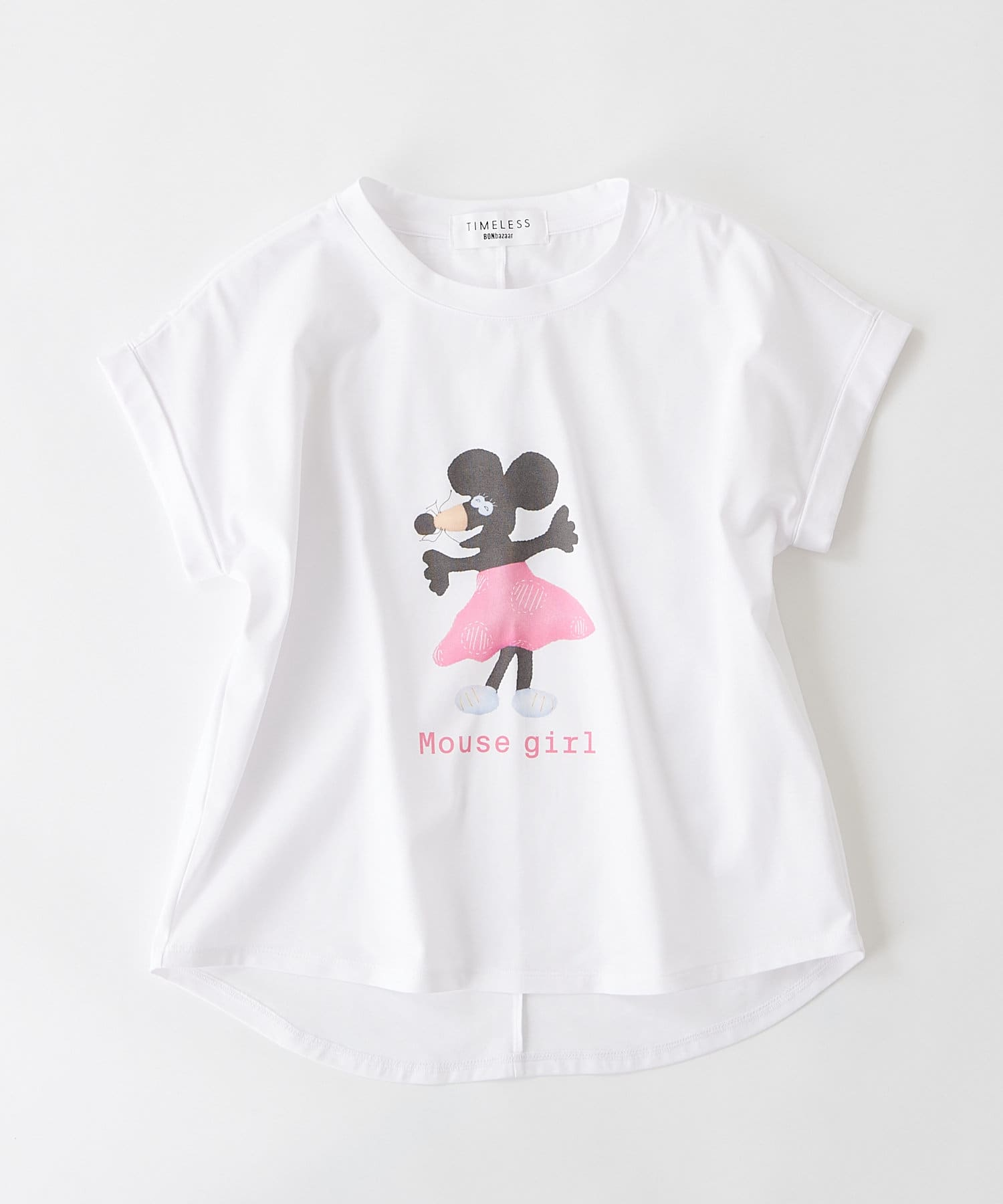 BONbazaar(ボンバザール) レディース 《長谷川 有里's キャラクター》Tシャツ Mouse Girl ホワイト